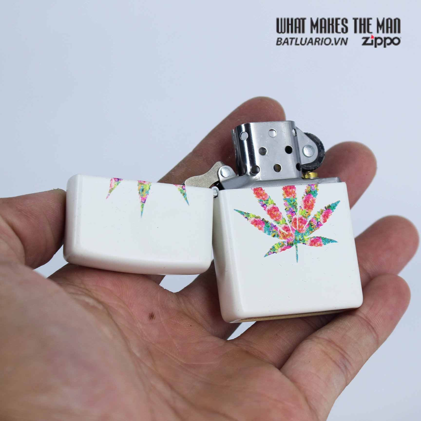 Zippo 29730 - Zippo Floral Weed White Matte 4
