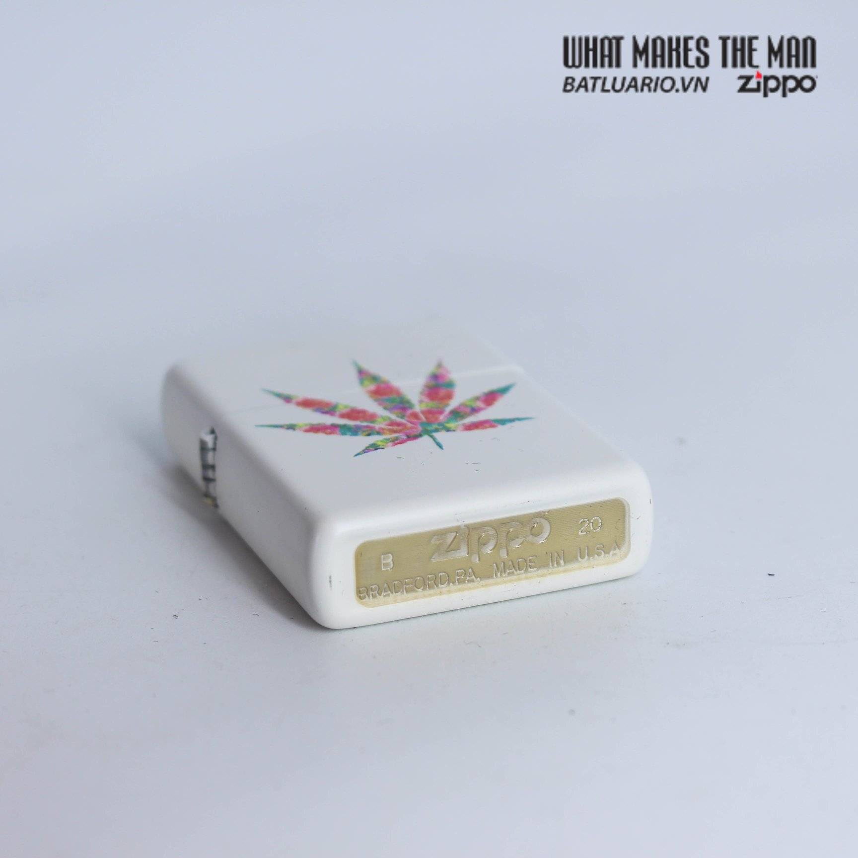 Zippo 29730 - Zippo Floral Weed White Matte 6