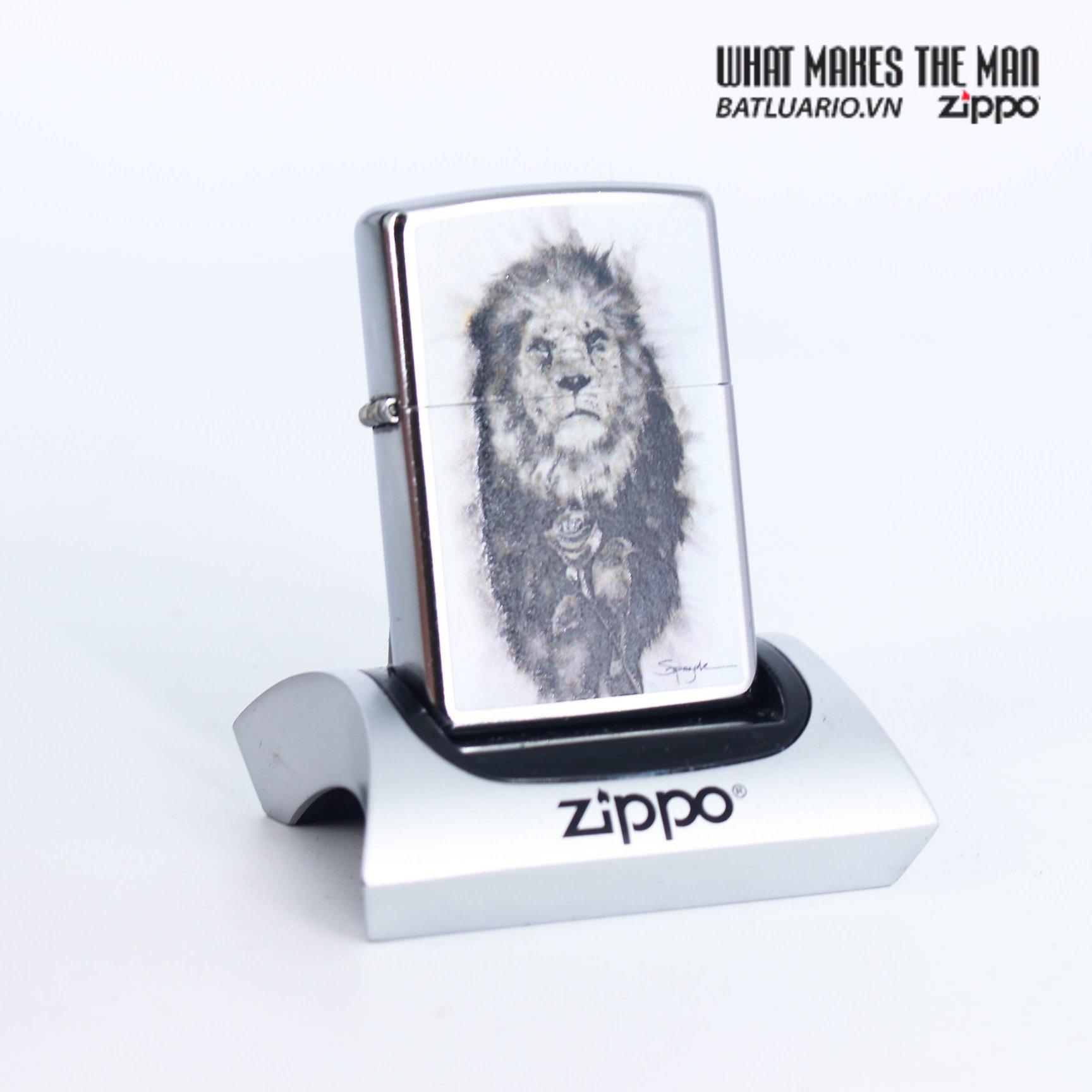 Zippo 49088 - Zippo Spazuk Lion and Rose Design 1