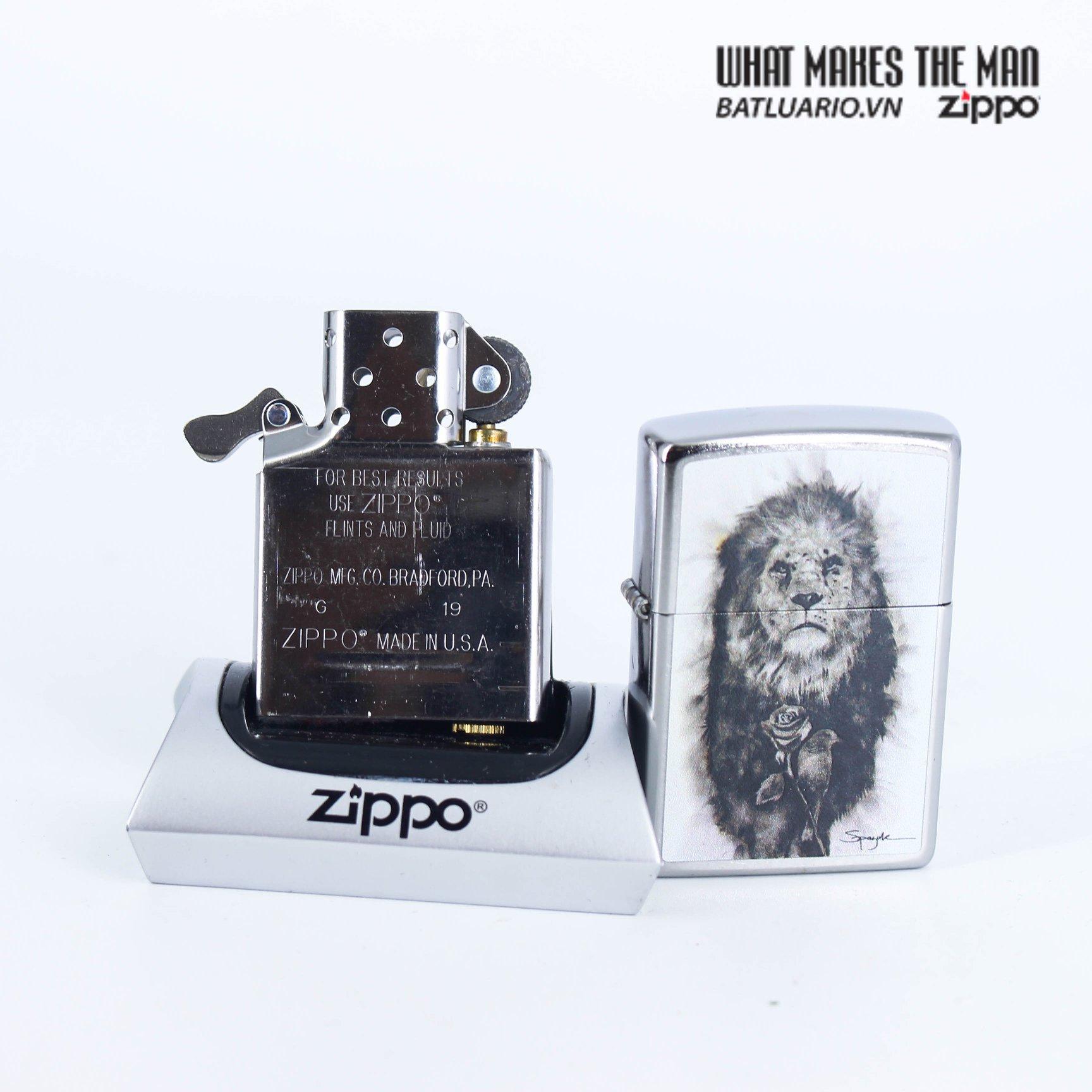 Zippo 49088 - Zippo Spazuk Lion and Rose Design 7