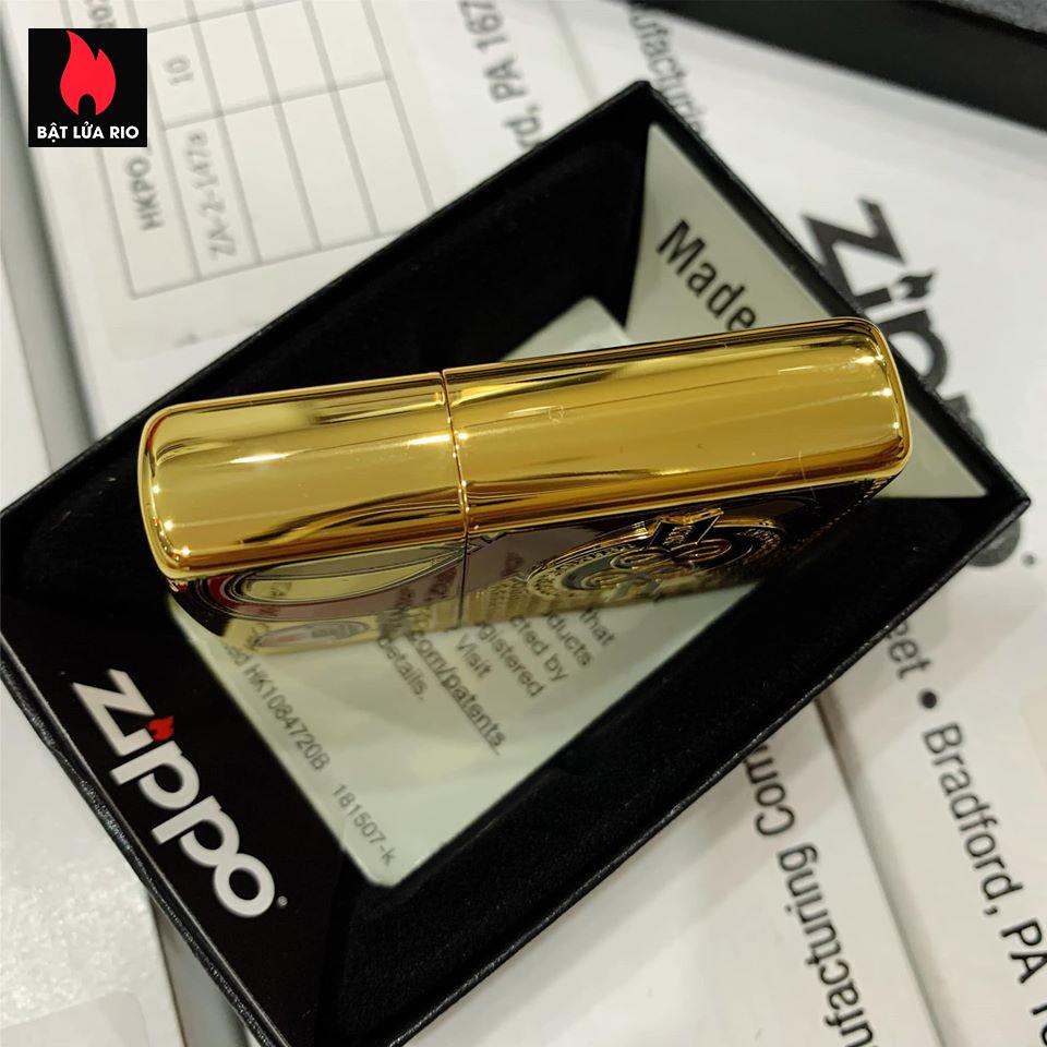 Zippo 88Th Anniversary Asia High Polish Plating - Zippo Bản Mạ Vàng Kỷ Niệm 88 Năm Ra Đời Bật Lửa Zippo - Zippo ZA-2-147A 5