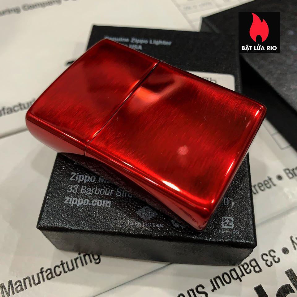Zippo 88Th Anniversary Asia Red Color Clear Coating - Zippo Bản Đỏ Bóng Kỷ Niệm 88 Năm Ra Đời Bật Lửa Zippo - Zippo ZA-2-147B 2