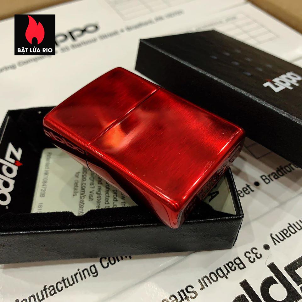 Zippo 88Th Anniversary Asia Red Color Clear Coating - Zippo Bản Đỏ Bóng Kỷ Niệm 88 Năm Ra Đời Bật Lửa Zippo - Zippo ZA-2-147B 8