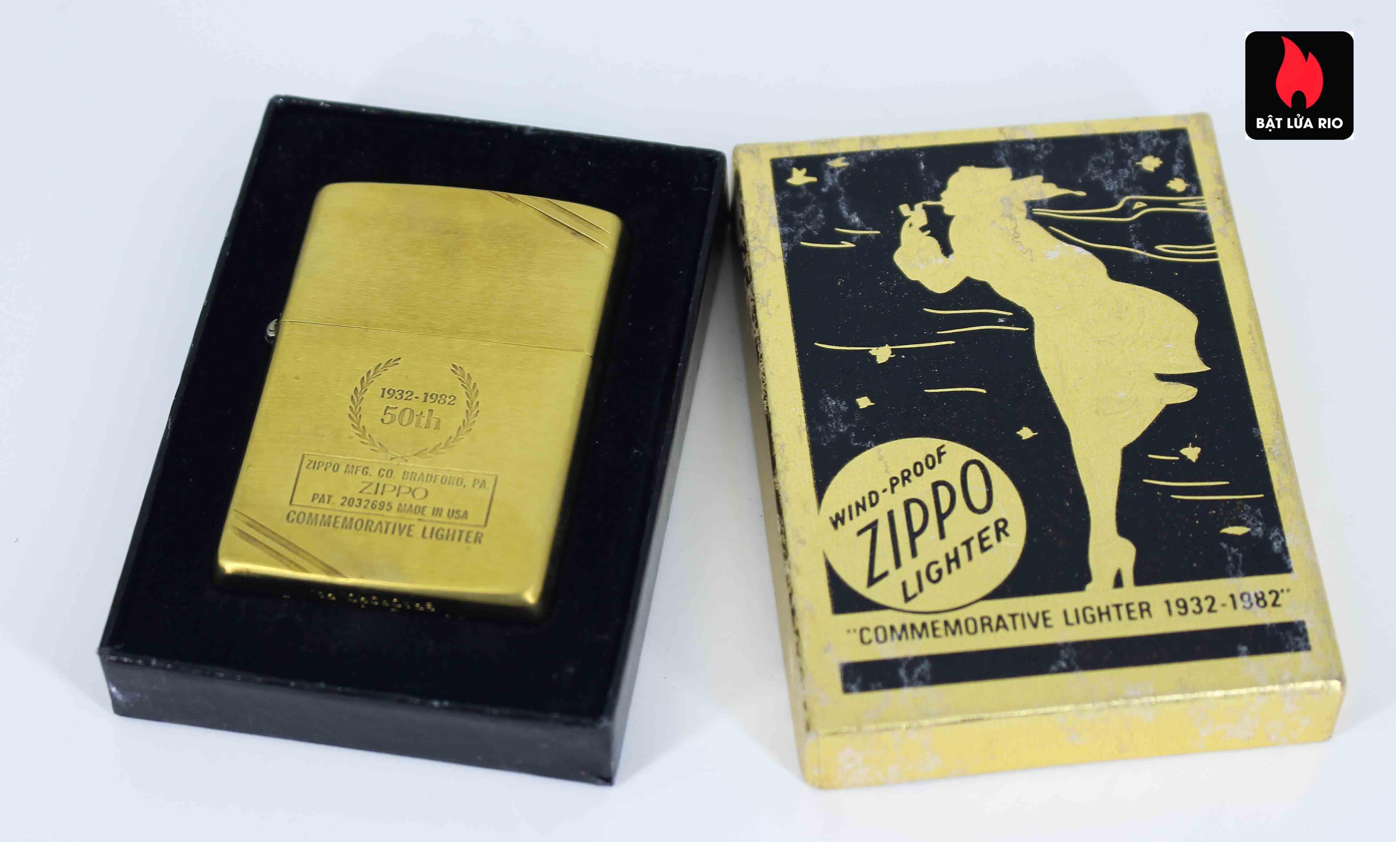 Zippo Chu Niên 1932 - 1982 - 50th Commemorative Lighter - Bông Lúa 1