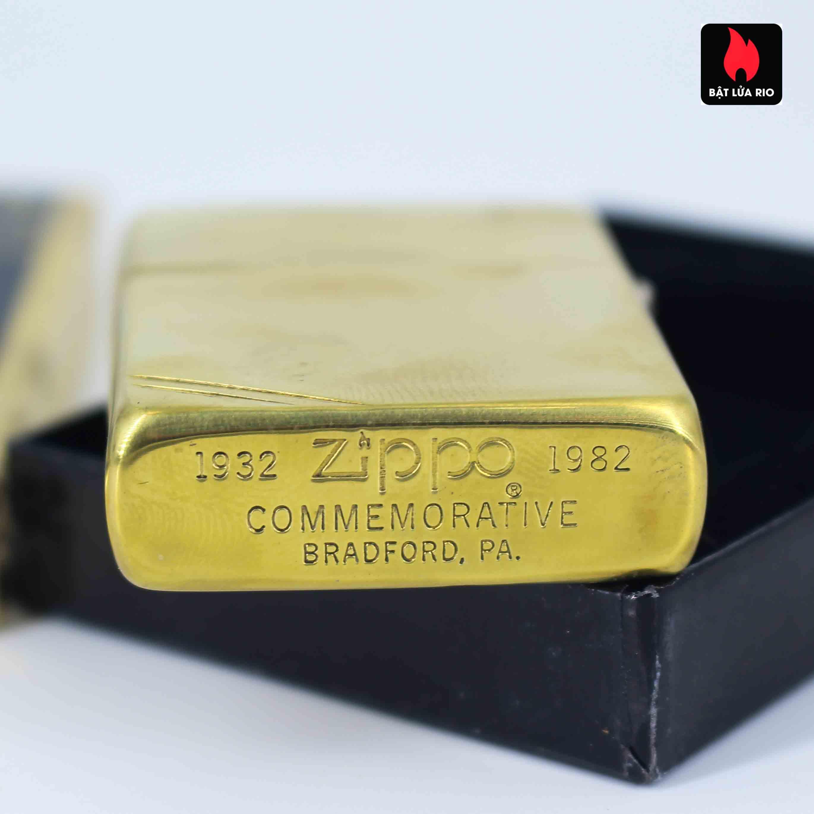 Zippo Chu Niên 1932 - 1982 - 50th Commemorative Lighter - Bông Lúa 5
