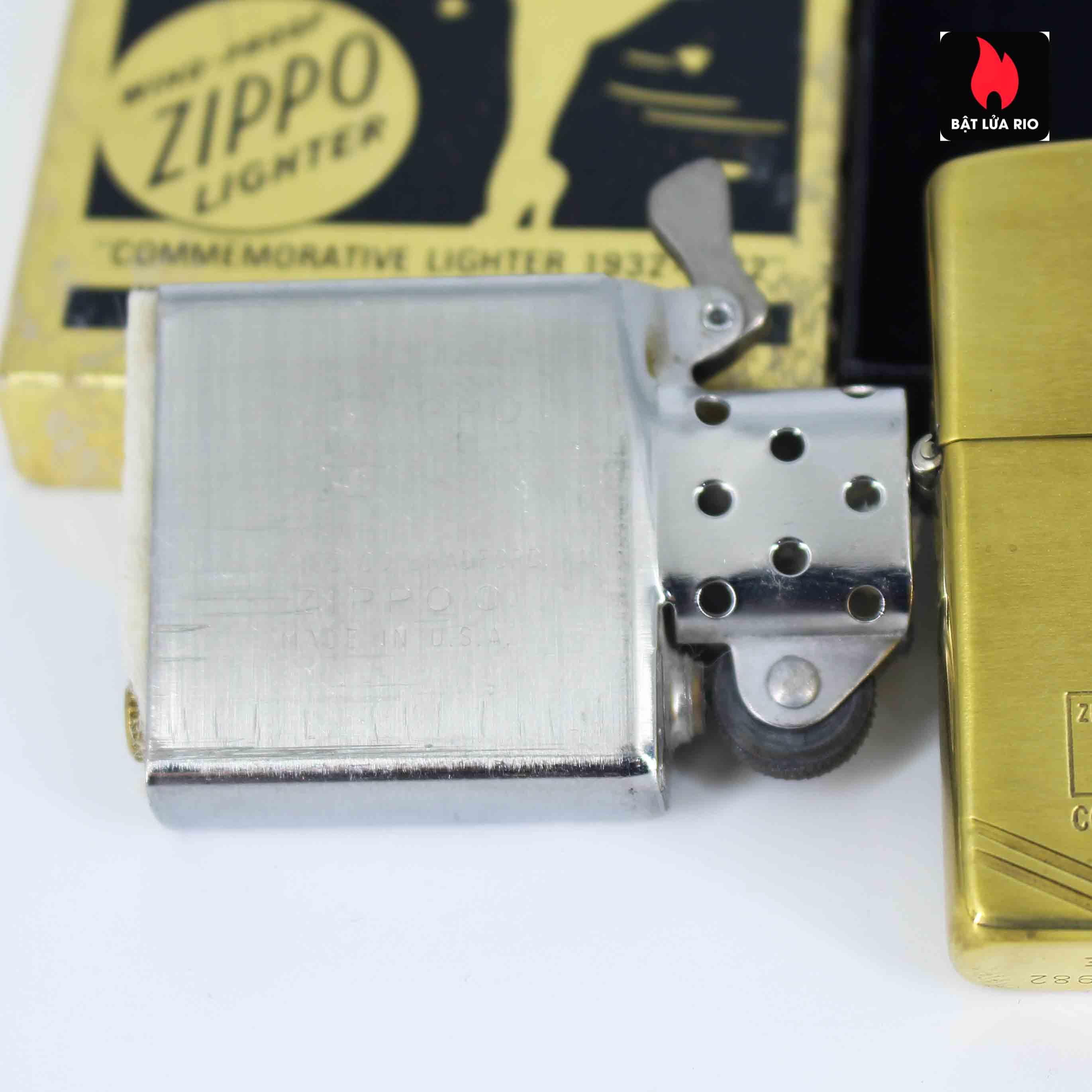 Zippo Chu Niên 1932 - 1982 - 50th Commemorative Lighter - Bông Lúa 6