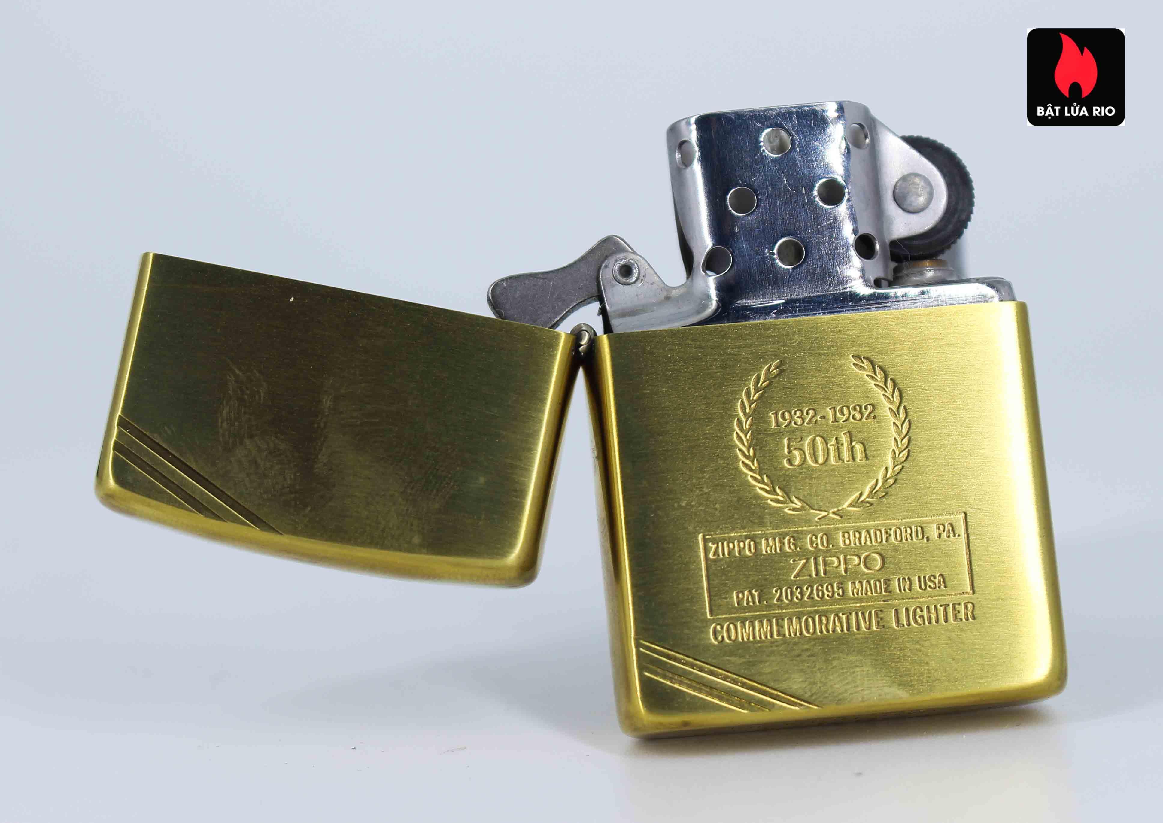 Zippo Chu Niên 1932 - 1982 - 50th Commemorative Lighter - Bông Lúa 8