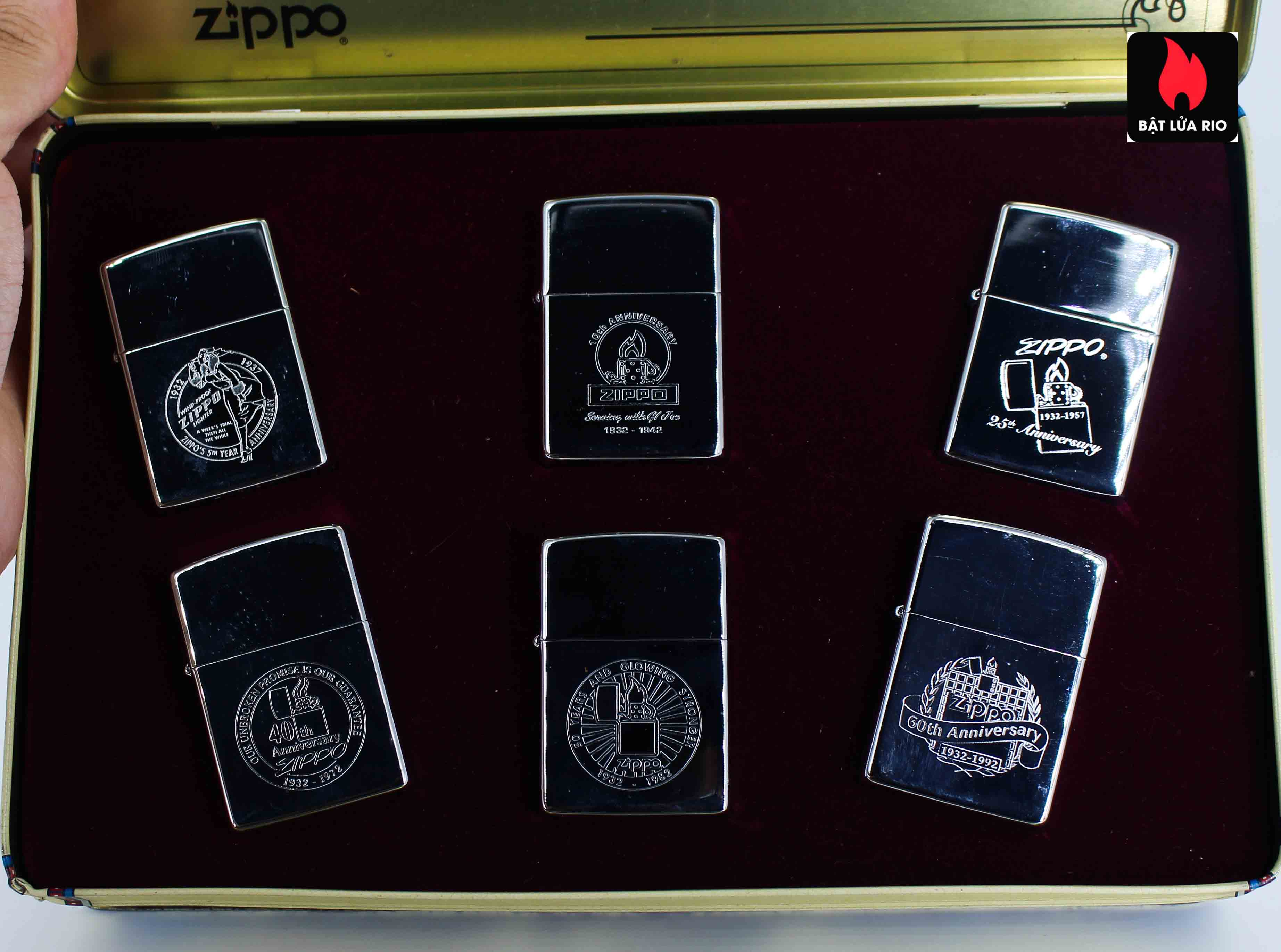 Zippo Set 1992 - 60th Anniversary Complete Set - 1992 Collectors Edition 4