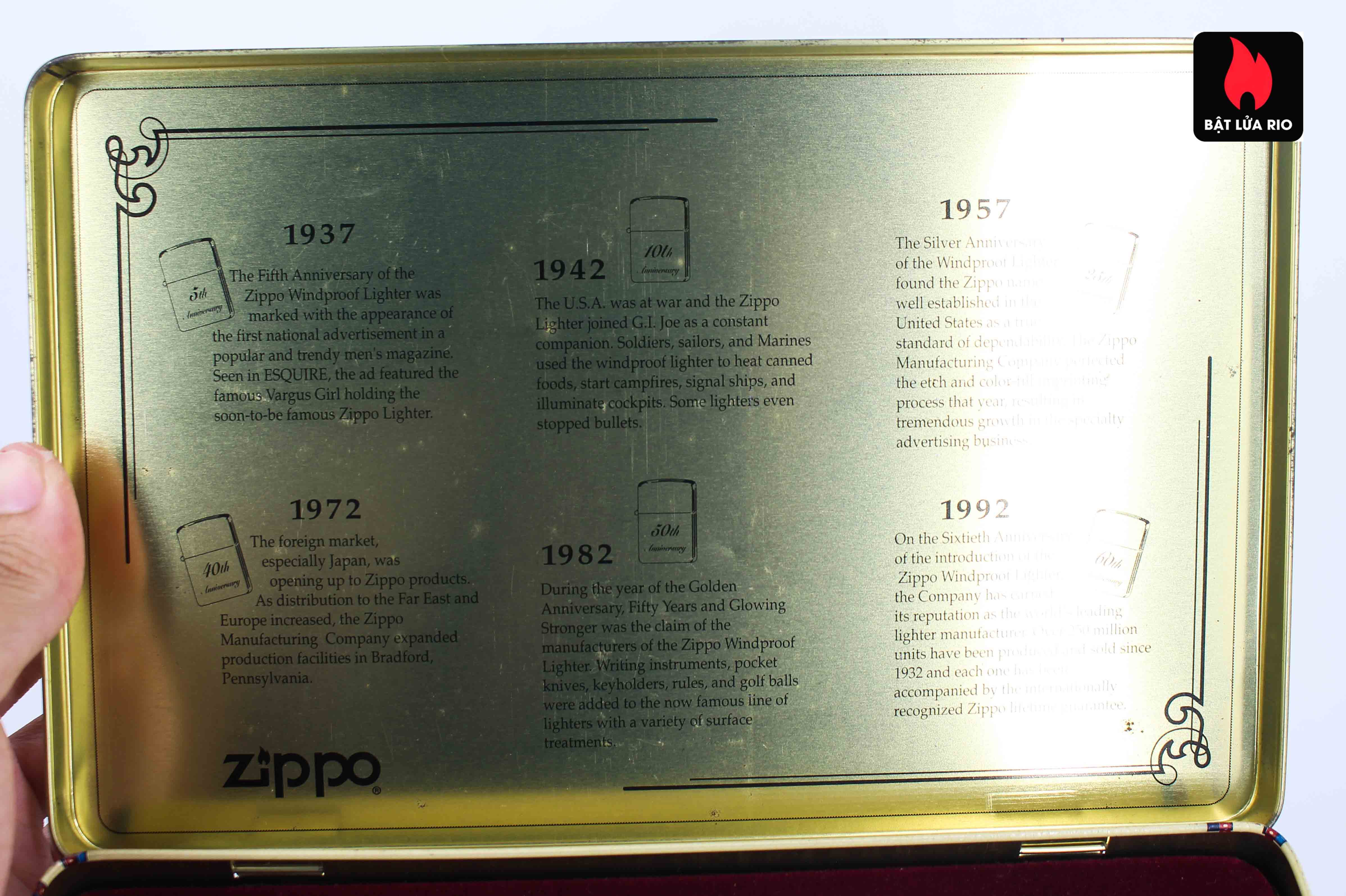 Zippo Set 1992 - 60th Anniversary Complete Set - 1992 Collectors Edition 6