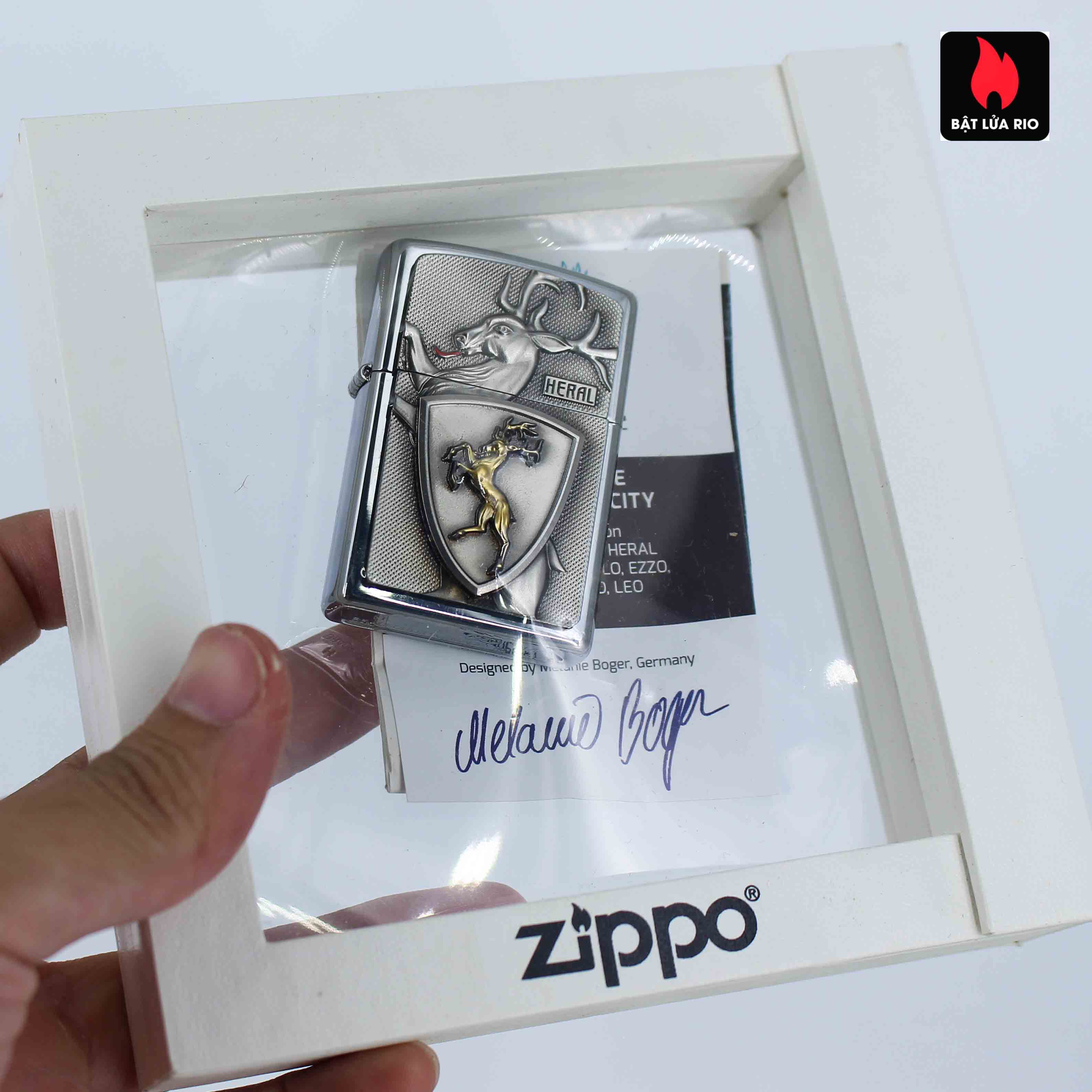Zippo Set 2014 - Collectible Europe Animal Heral Arco Zippo Lighter Limited Edition 4