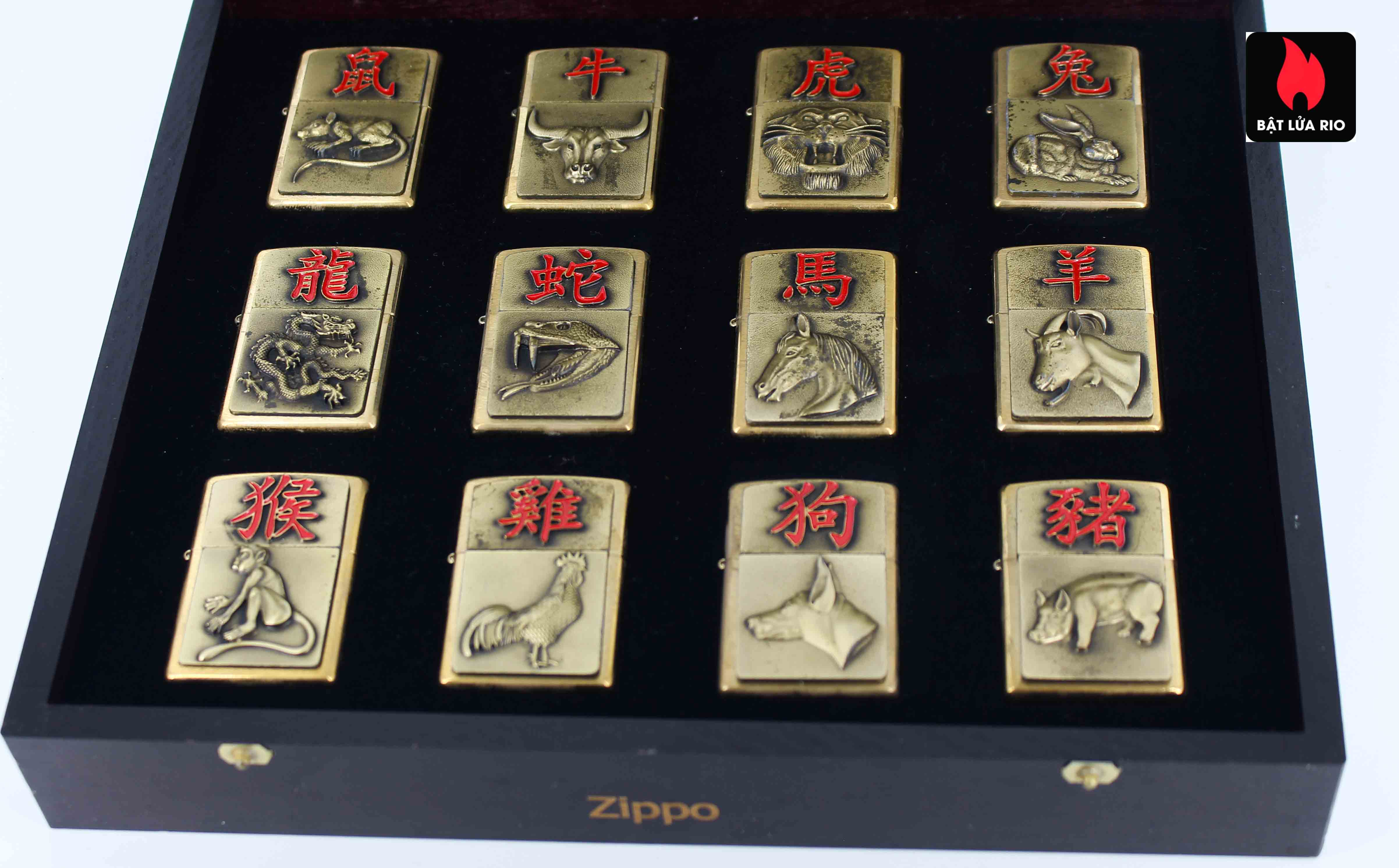 Zippo Set 2015 - Chinese Zodiac - 12 Con Giáp Châu Á 12