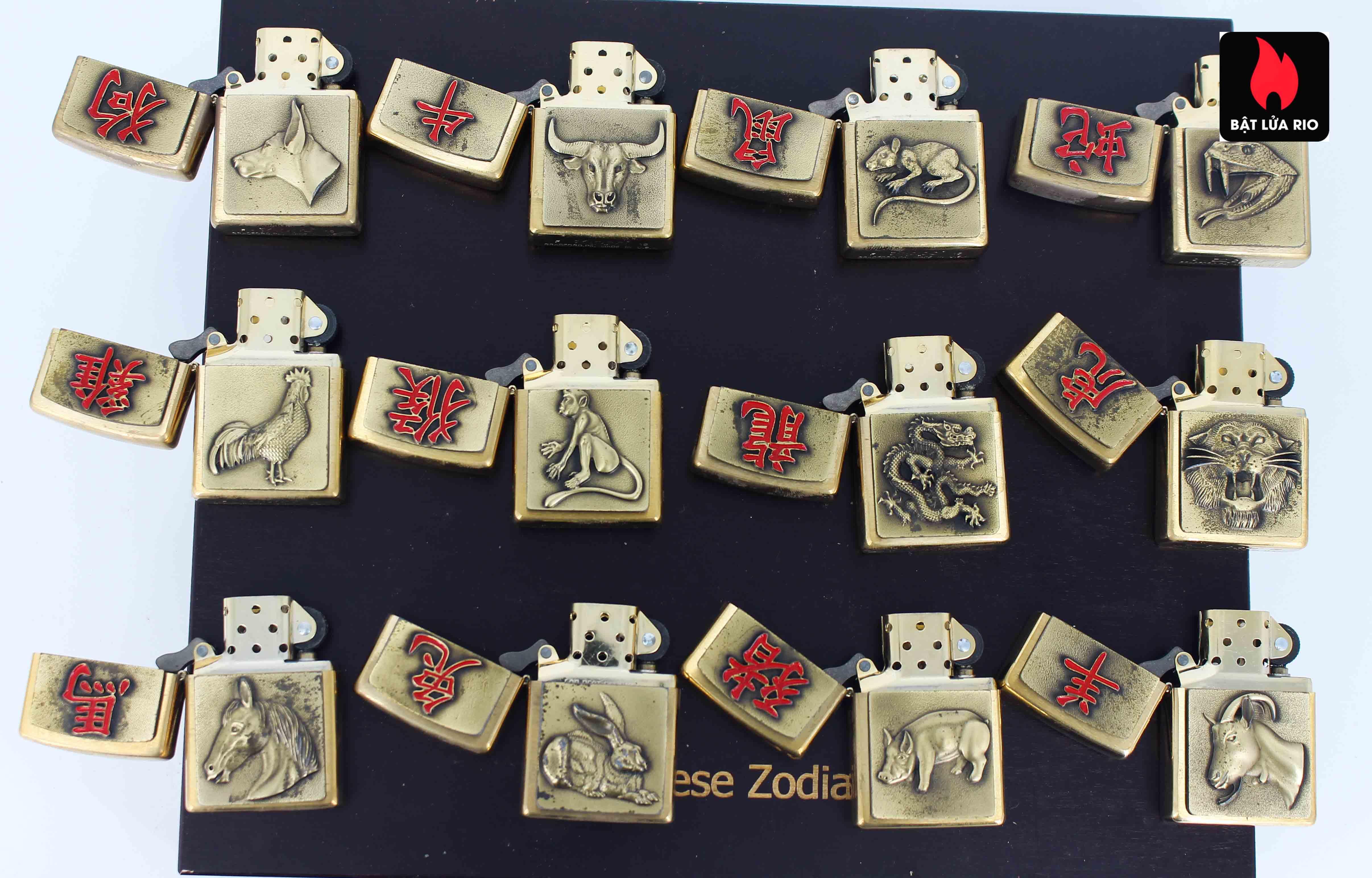 Zippo Set 2015 - Chinese Zodiac - 12 Con Giáp Châu Á 5