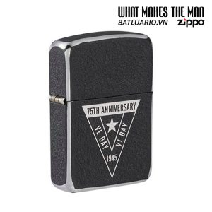 Zippo VE/VJ 75th Anniversary Collectible Steel Case - Zippo Victory in Europe & Japan Collectible Lighter - Zippo 49264