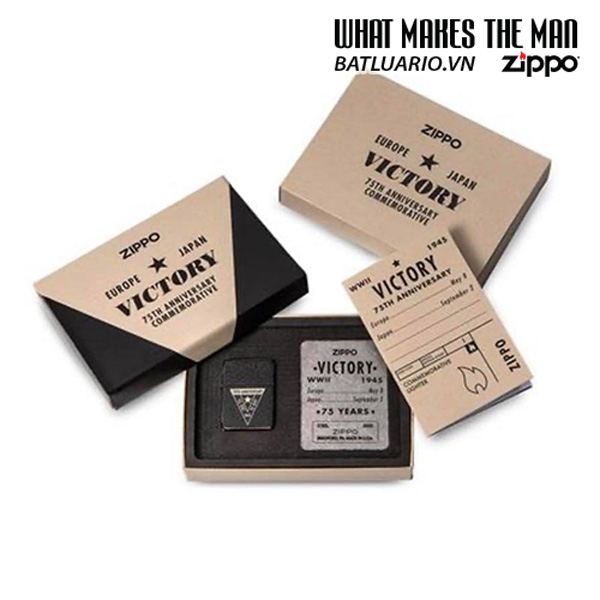 Zippo VE/VJ 75th Anniversary Collectible Steel Case - Zippo Victory in Europe & Japan Collectible Lighter - Zippo 49264 4