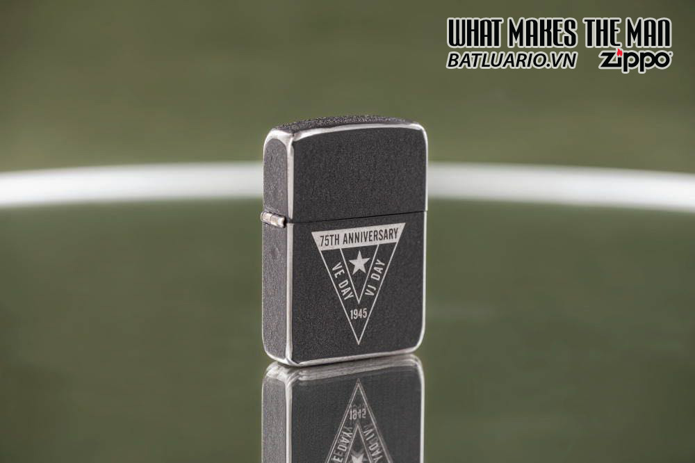 Zippo VE/VJ 75th Anniversary Collectible Steel Case - Zippo Victory in Europe & Japan Collectible Lighter - Zippo 49264 5
