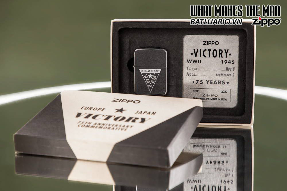 Zippo VE/VJ 75th Anniversary Collectible Steel Case - Zippo Victory in Europe & Japan Collectible Lighter - Zippo 49264 9