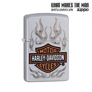 Zippo 29904 - Zippo Harley-Davidson® Flames Satin Chrome