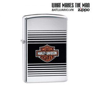 Zippo 49064 - Zippo Harley-Davidson® Striped with Bar & Shield
