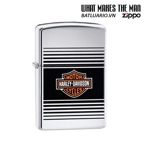 Zippo 49064 - Zippo Harley-Davidson® Striped with Bar & Shield