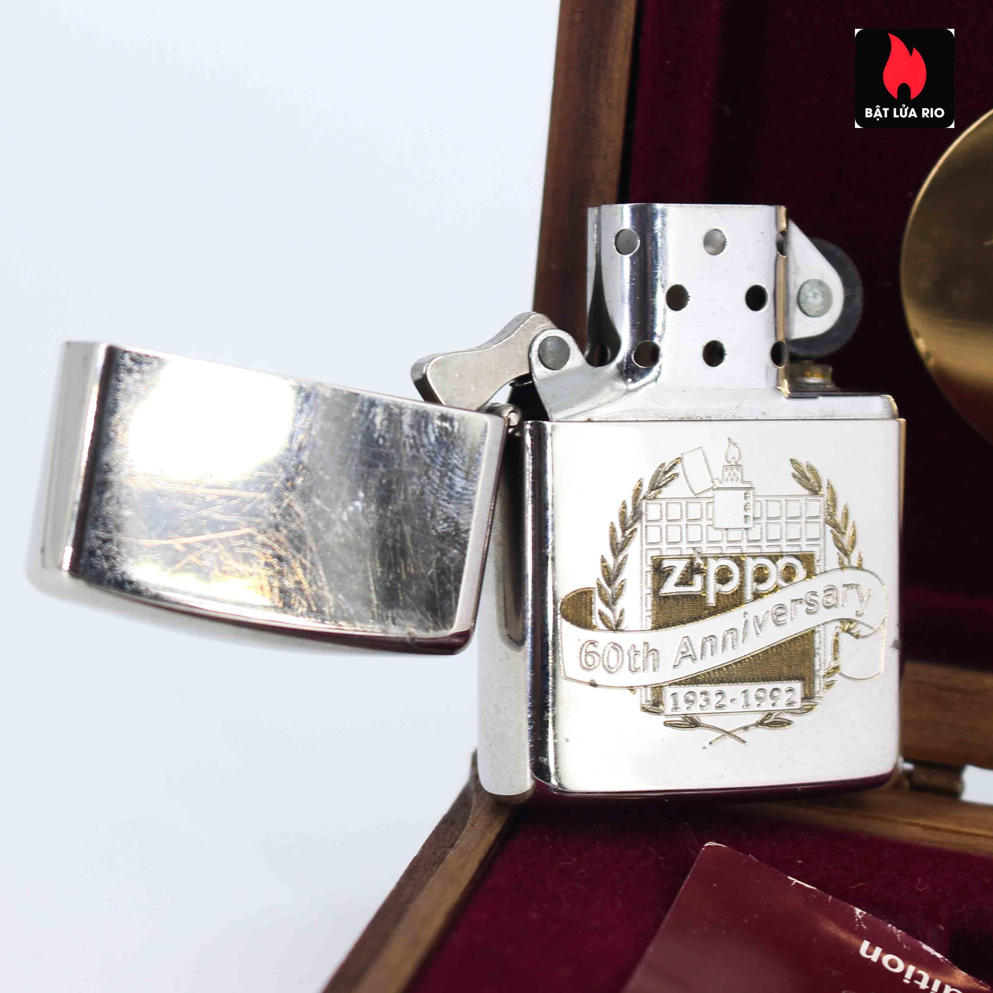 Zippo 1932 - 1992 - 60th Anniversary - Kỉ Niệm 60 Năm Thành Lập Hãng Zippo 2