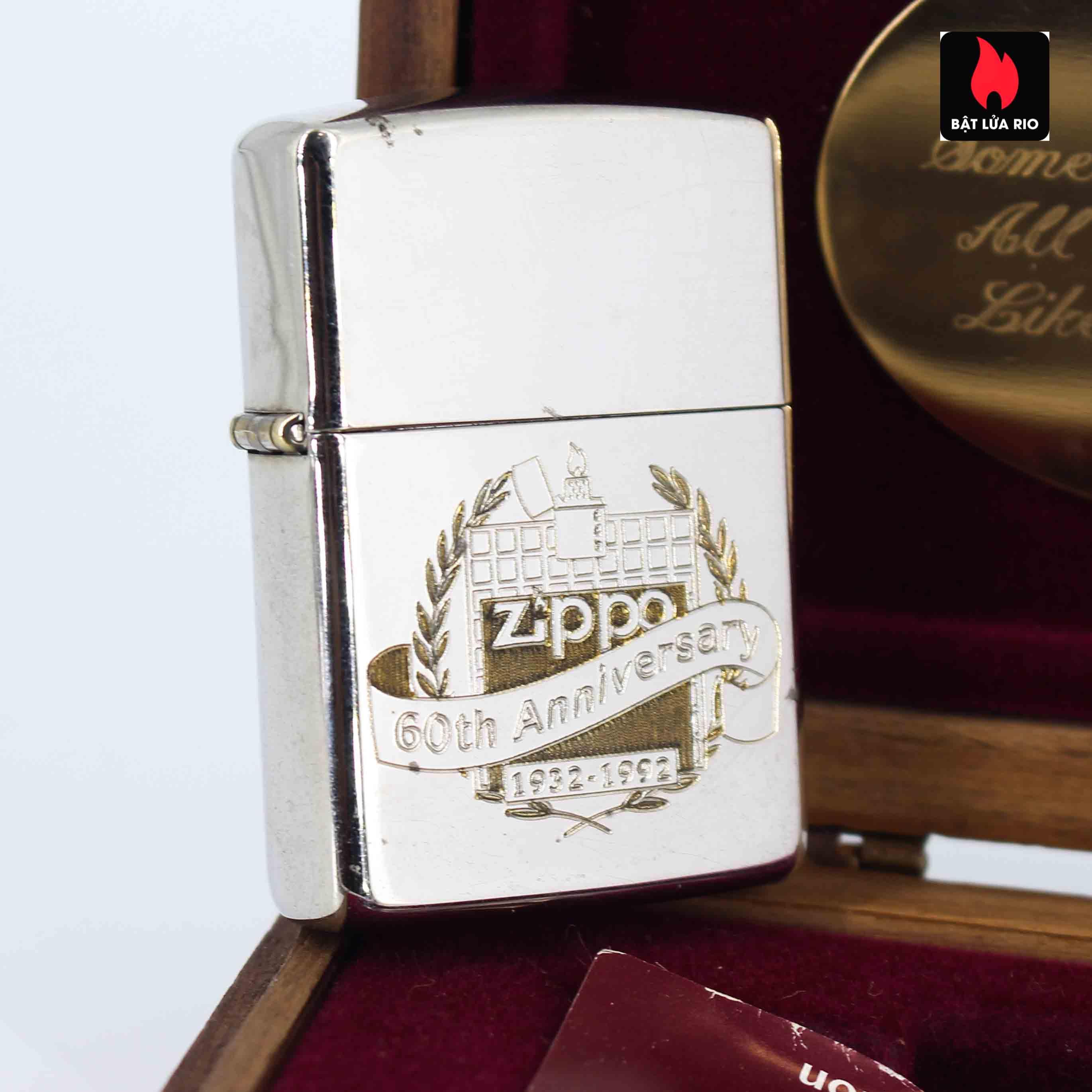 Zippo 1932 - 1992 - 60th Anniversary - Kỉ Niệm 60 Năm Thành Lập Hãng Zippo