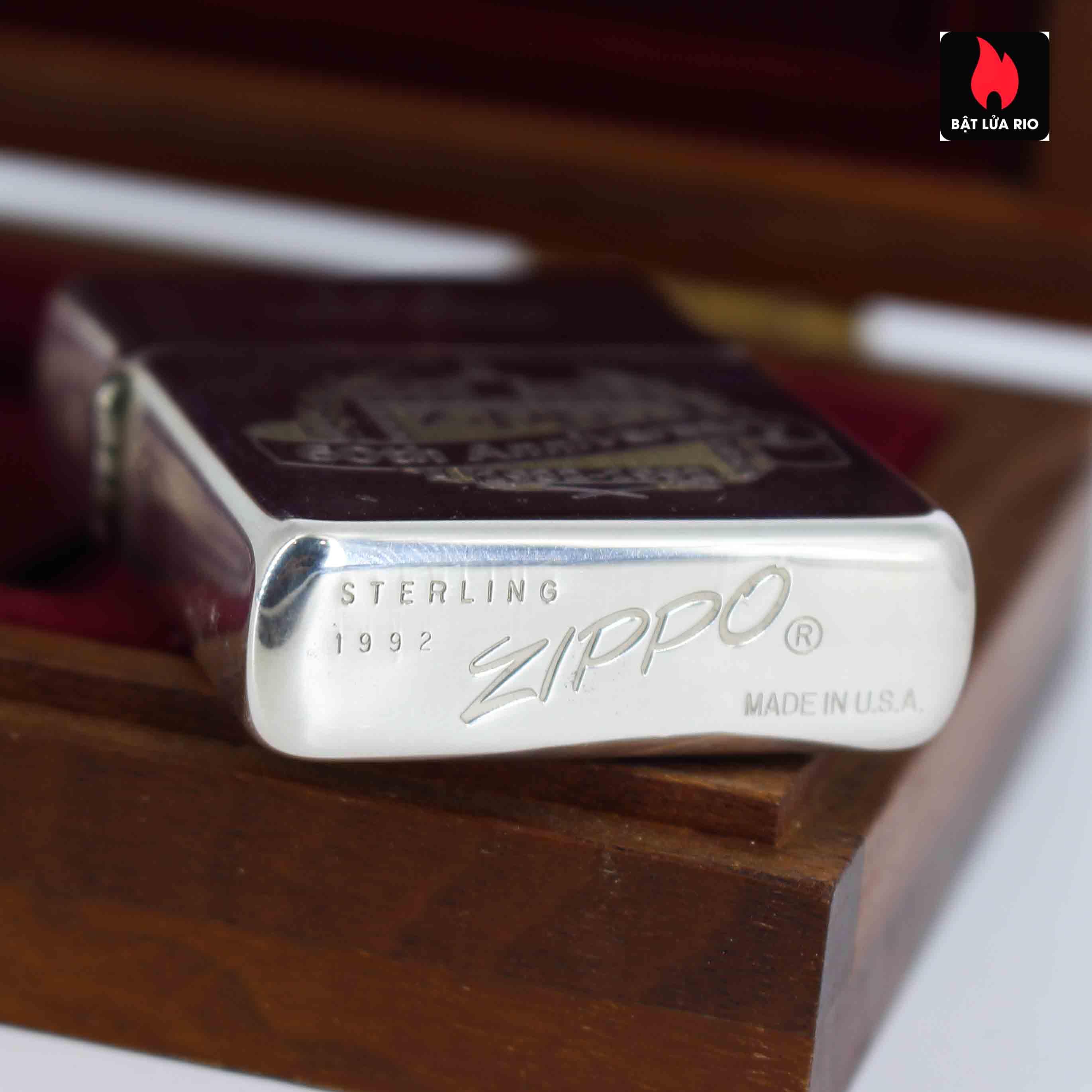Zippo 1992 - Sterling Silver - 60th Anniversary - GGB 1463/5000 5
