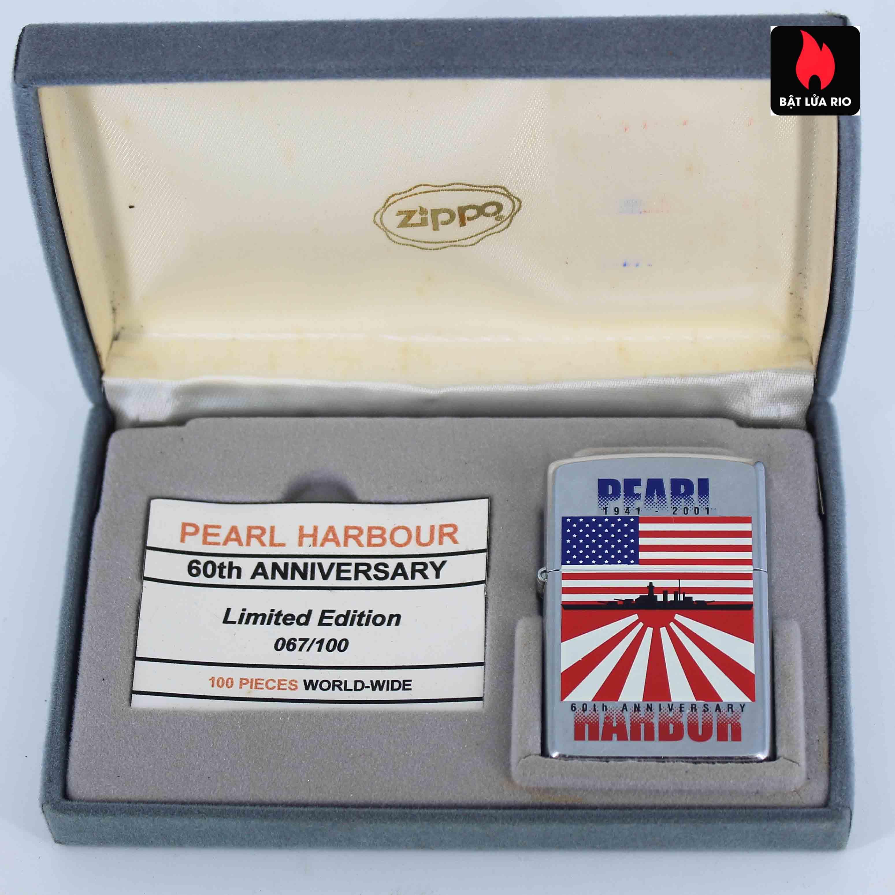 Zippo 2001 - 60th Anniversary Pearl Harbor - Trận Trân Châu Cảng 1