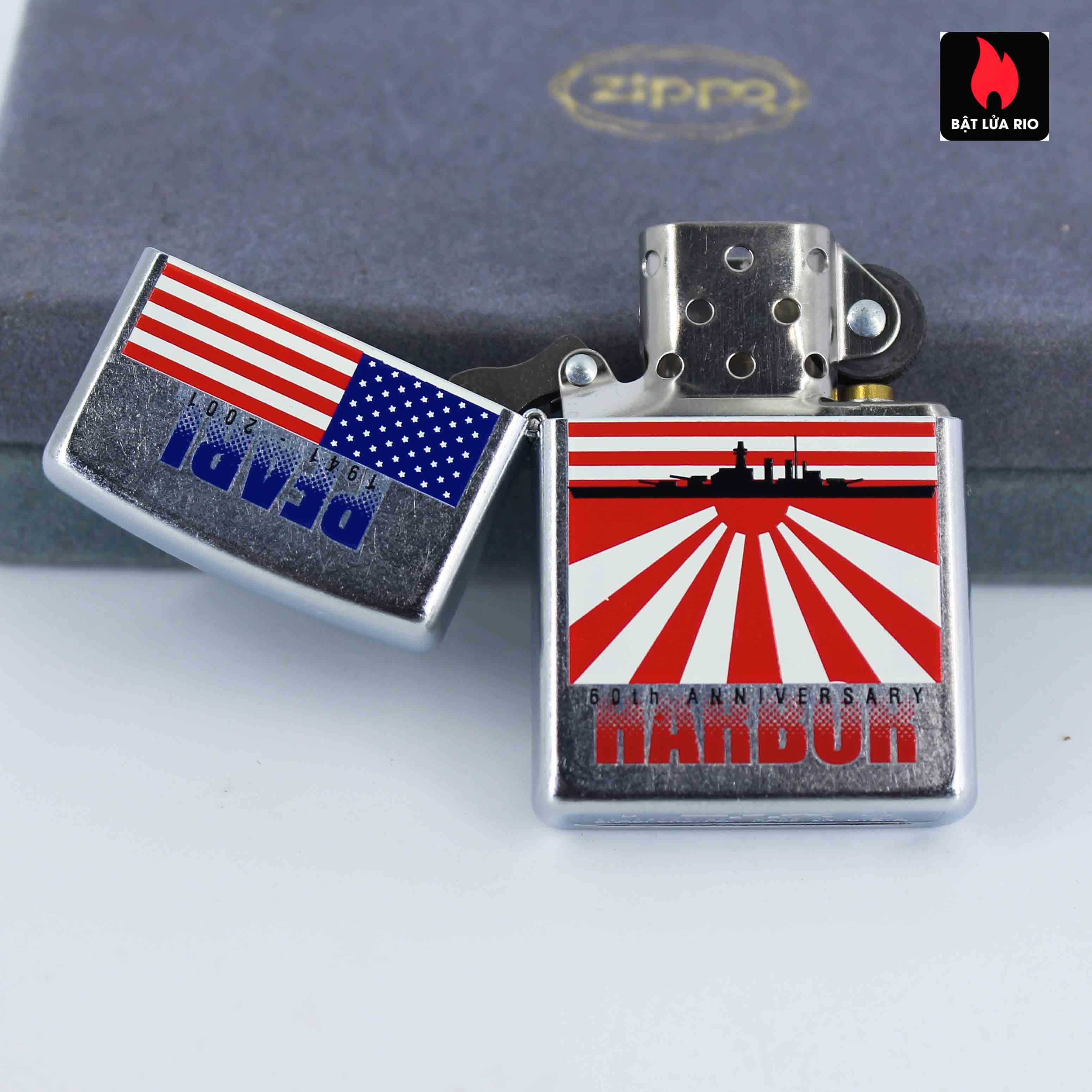 Zippo 2001 - 60th Anniversary Pearl Harbor - Trận Trân Châu Cảng 8
