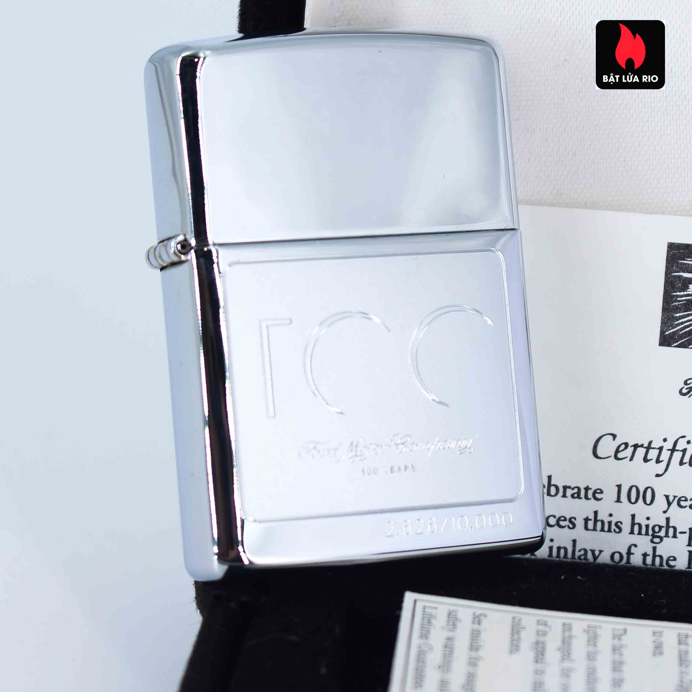 Zippo 2002 - 100 Years Ford Motor Company - Limited /10.000