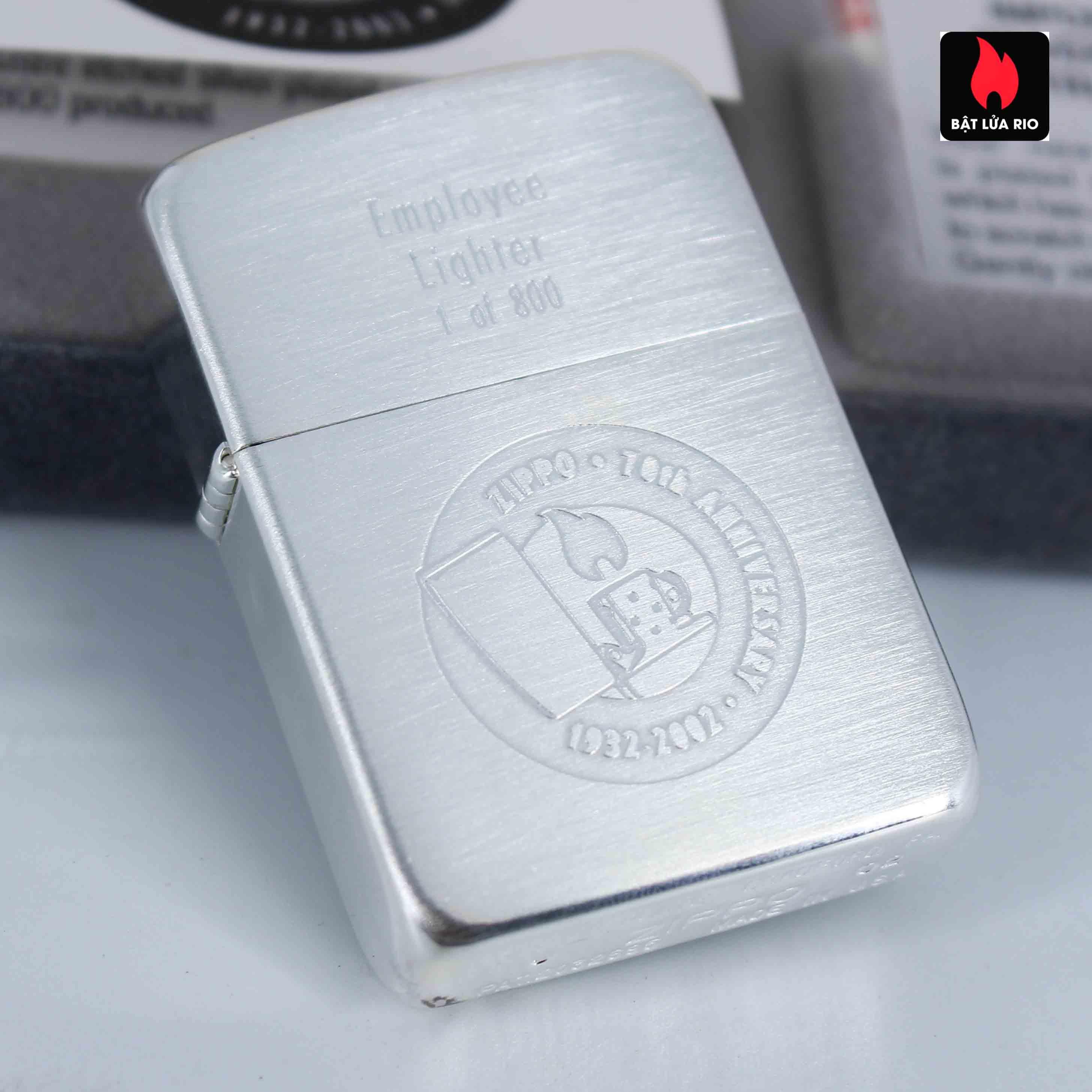 Zippo 2002 - 70th Anniversary - Employee Lighter 1 of 800 6
