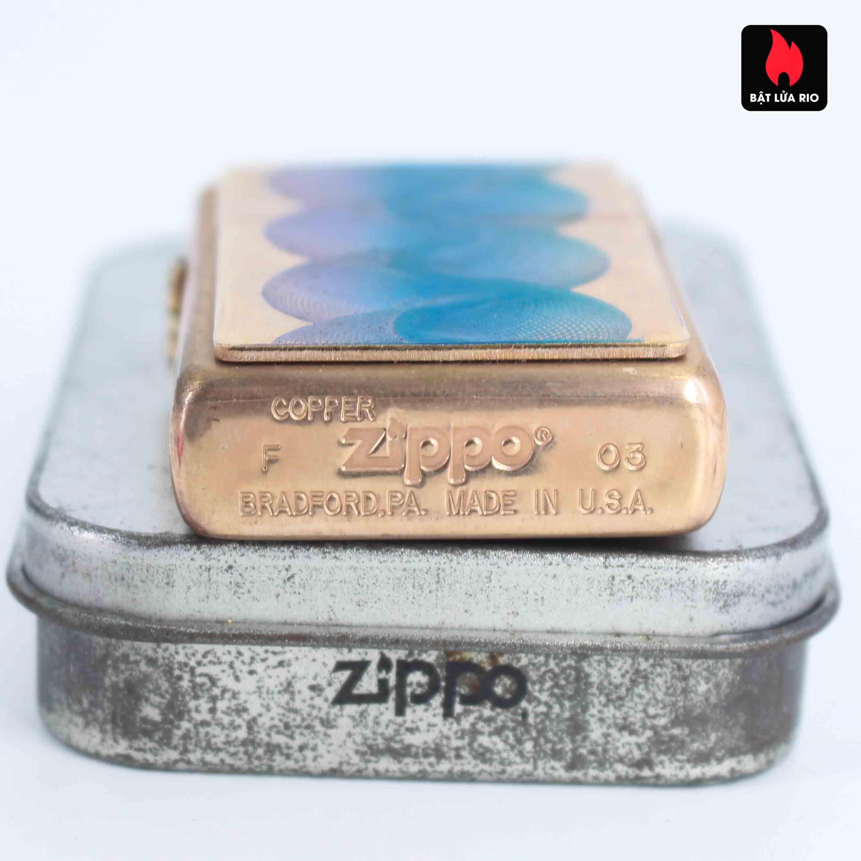 Zippo 2003 - Solid Copper - Phantasma Hand Finished 5