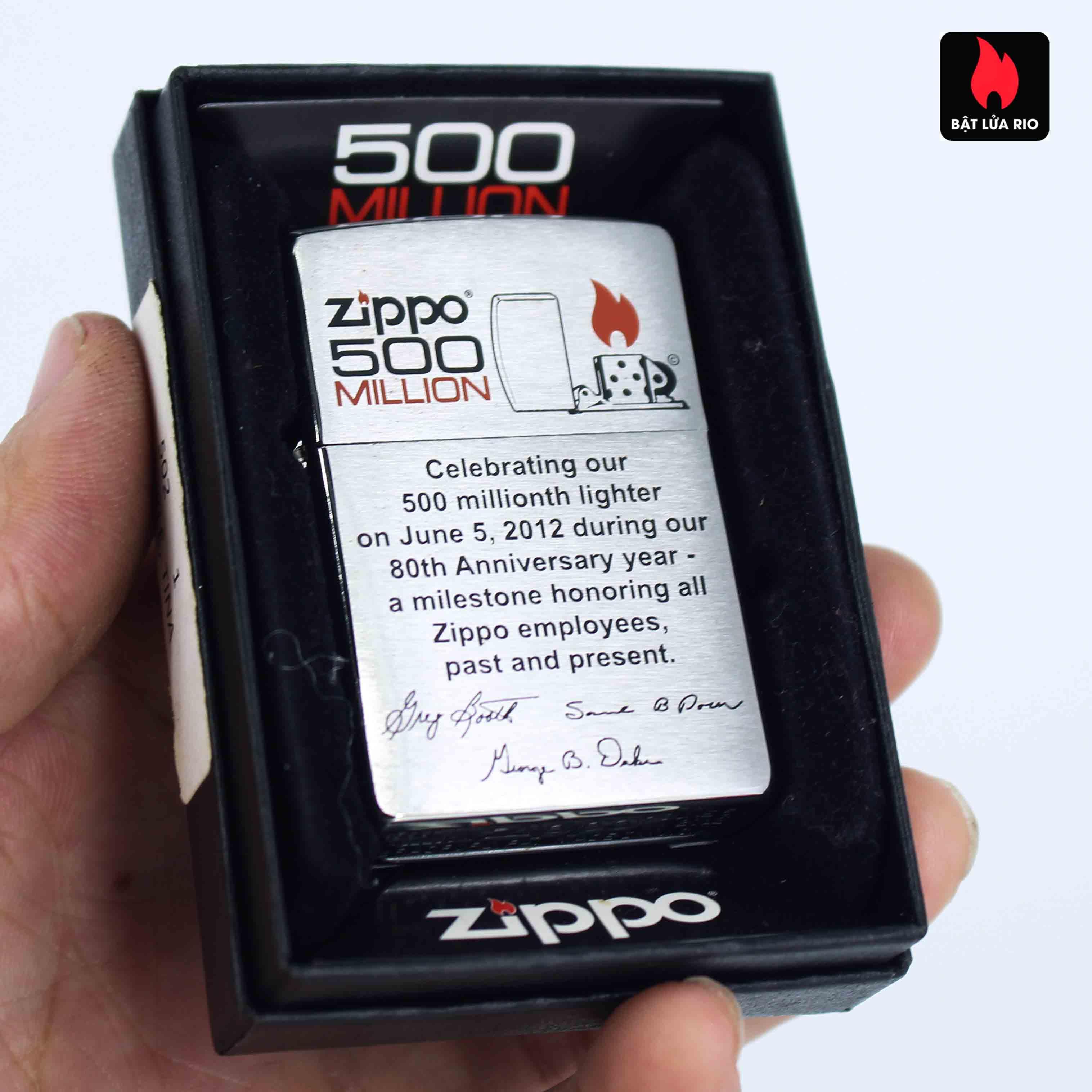 Zippo 2012 - 500 Million - Employee - Tina Dunkle 1
