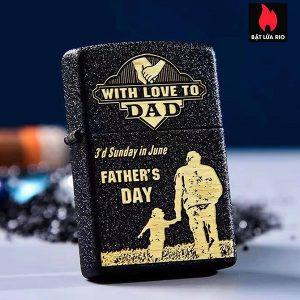 Zippo 236 Khắc Father's Day - Ngày Của Cha 10 - Zippo 236.FATHERDAY10