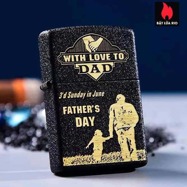 Zippo 236 Khắc Father's Day - Ngày Của Cha 10 - Zippo 236.FATHERDAY10