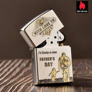 Zippo 250/205 Khắc Father's Day - Ngày Của Cha 02 - Zippo 250/205.FATHERDAY02 1