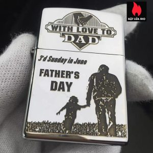 Zippo 250 Khắc Father's Day - Ngày Của Cha 06 - Zippo 250.FATHERDAY06