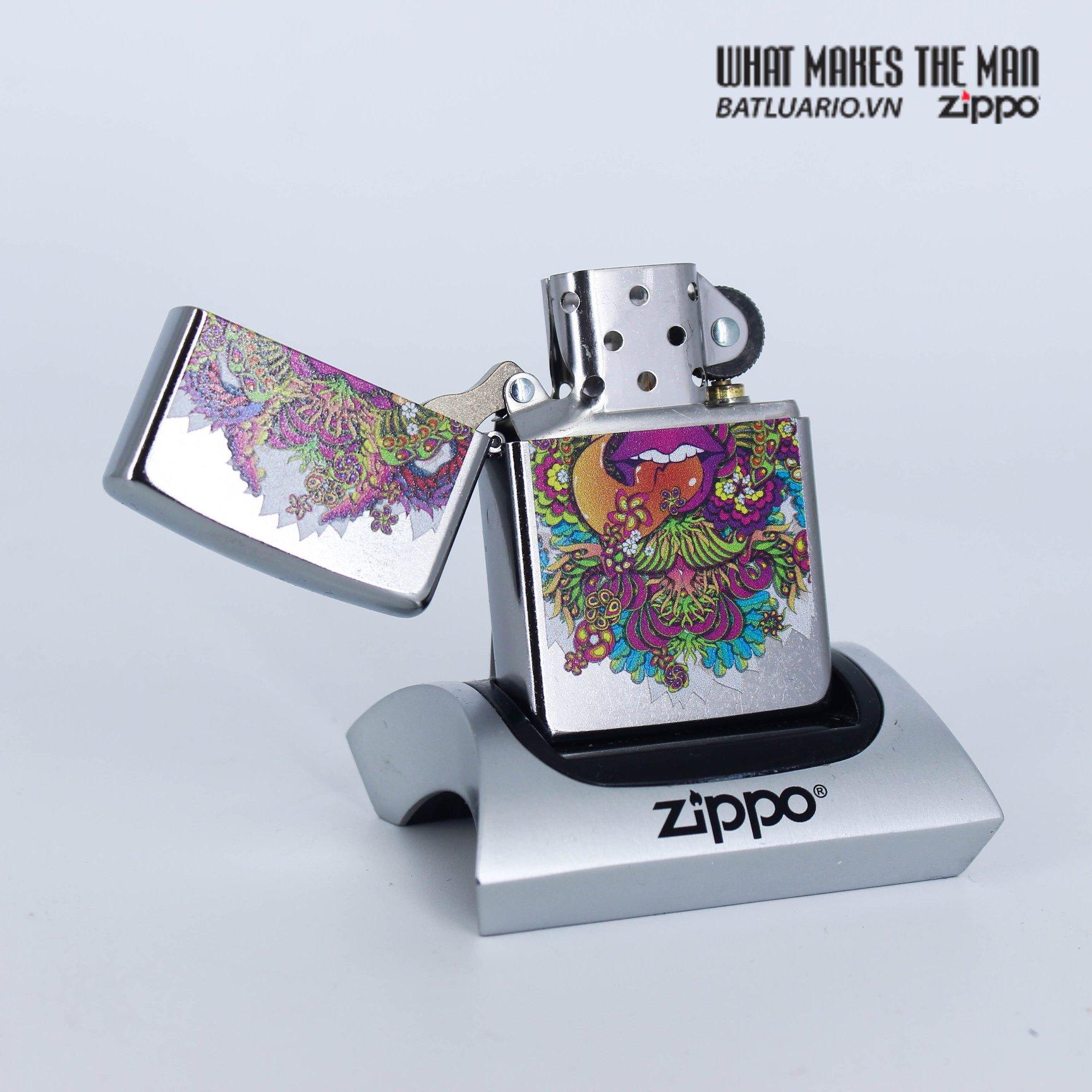 Zippo 49110 - Zippo Psychedelic Lip Design Street Chrome 2