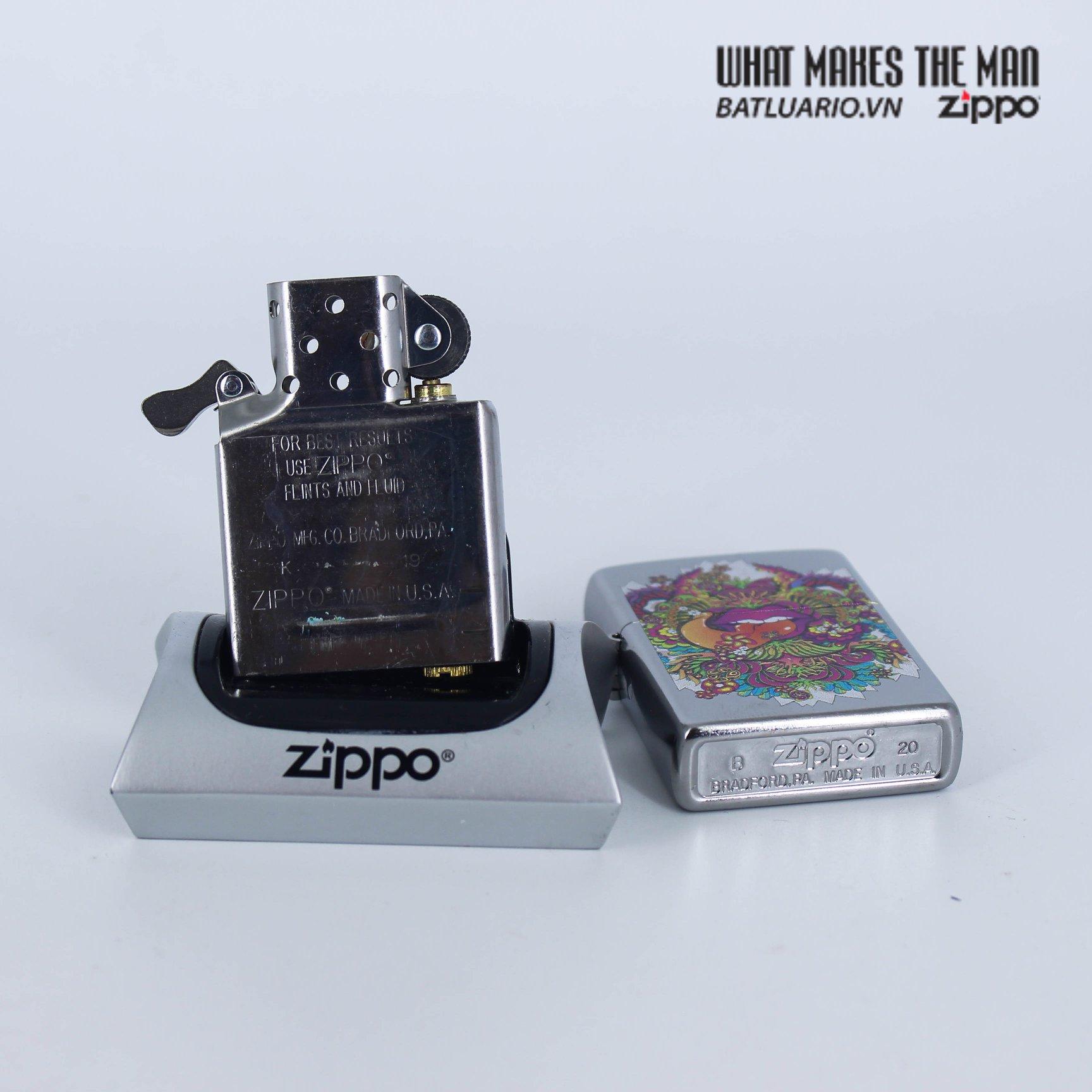Zippo 49110 - Zippo Psychedelic Lip Design Street Chrome 8