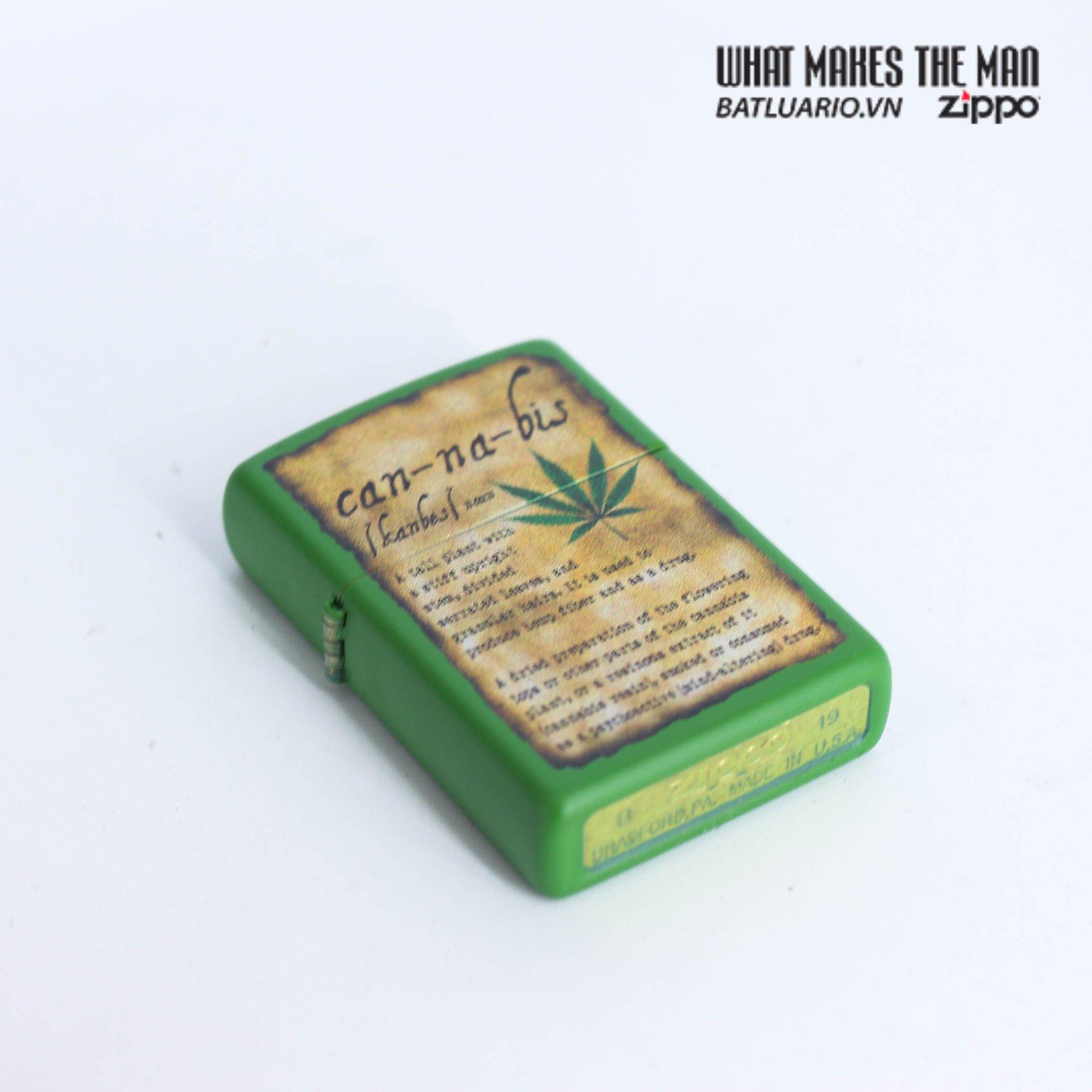 Zippo 49119 - Zippo Cannabis Design Moss Green Matte 5