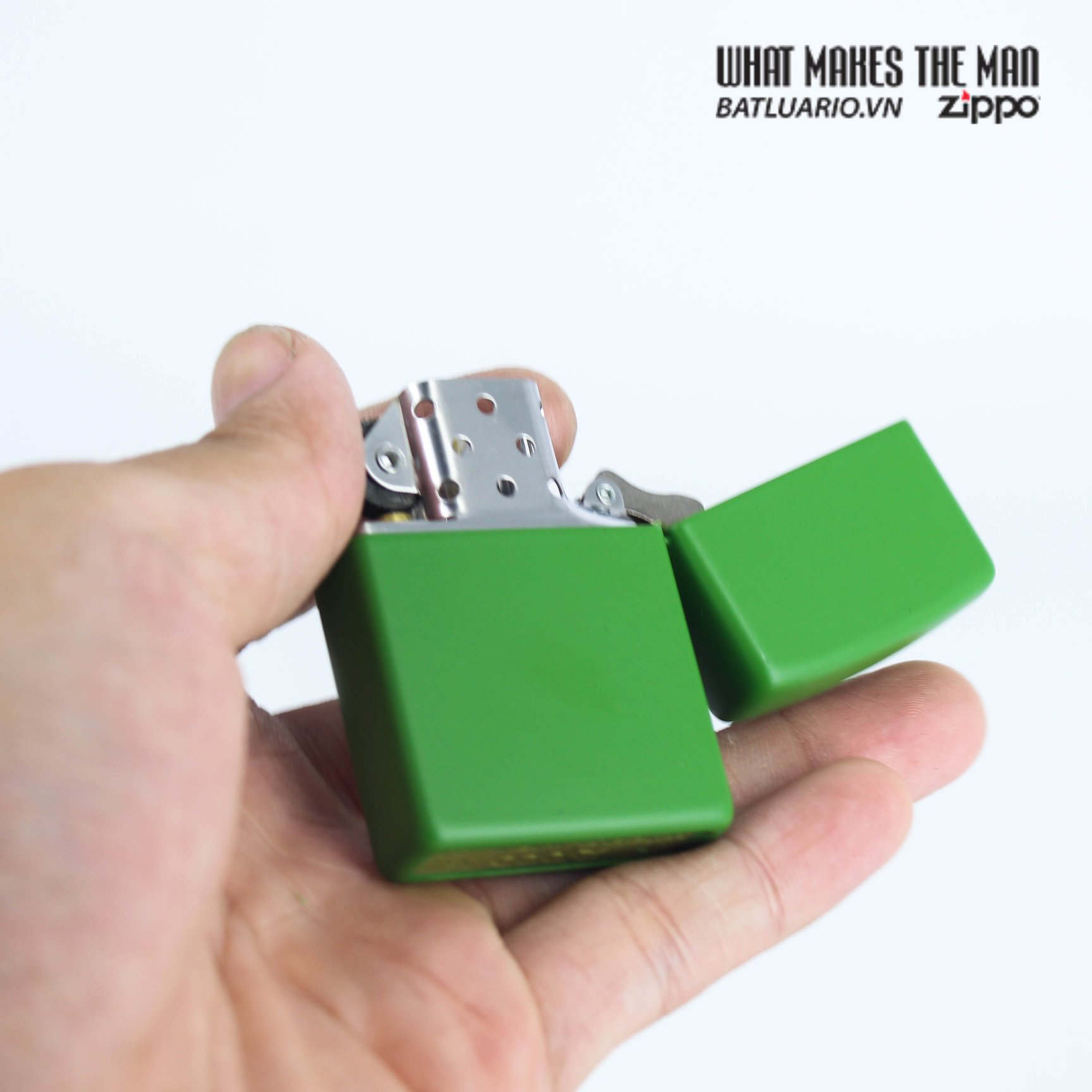 Zippo 49119 - Zippo Cannabis Design Moss Green Matte 8