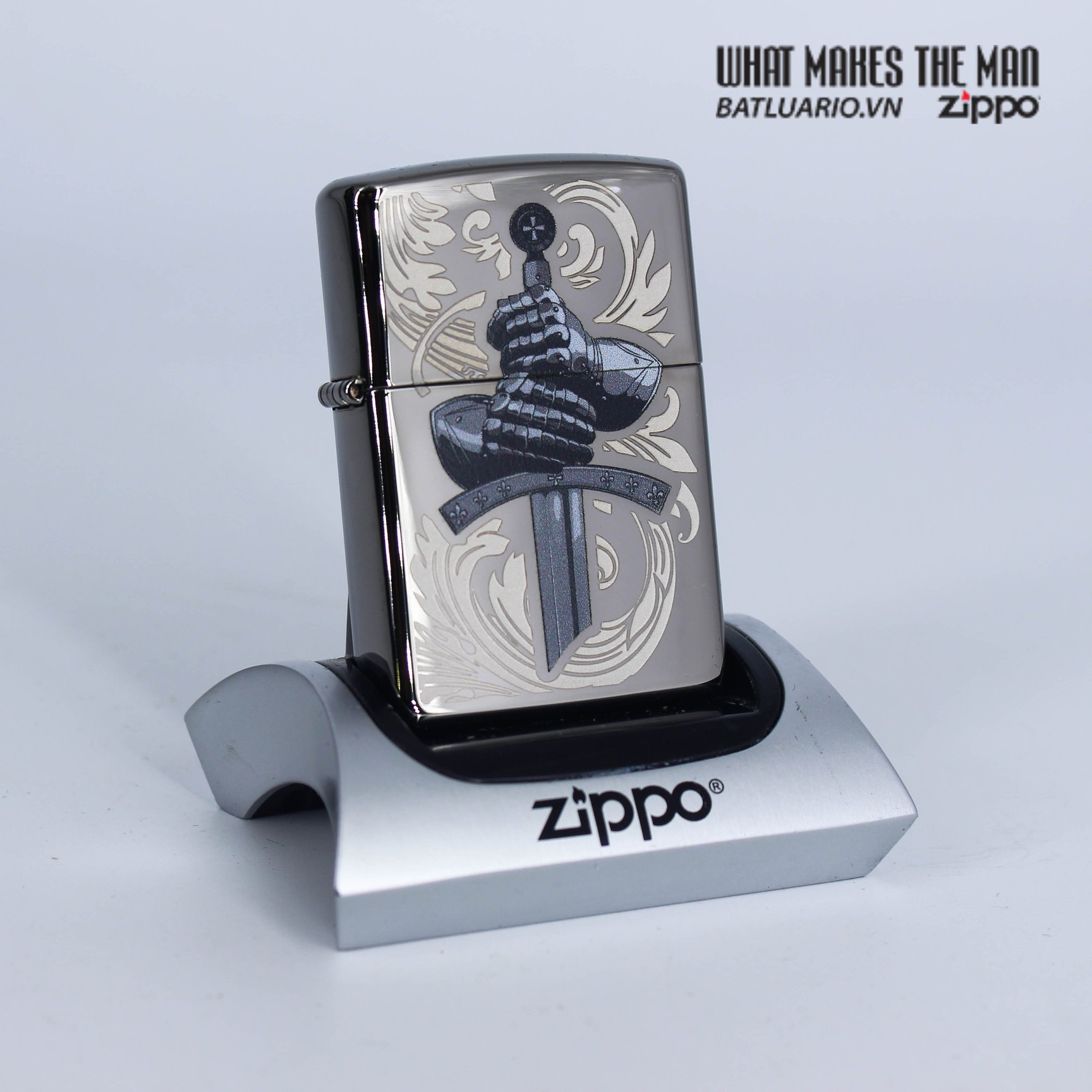 Zippo 49127 - Zippo Knights Glove Design Black Ice 1