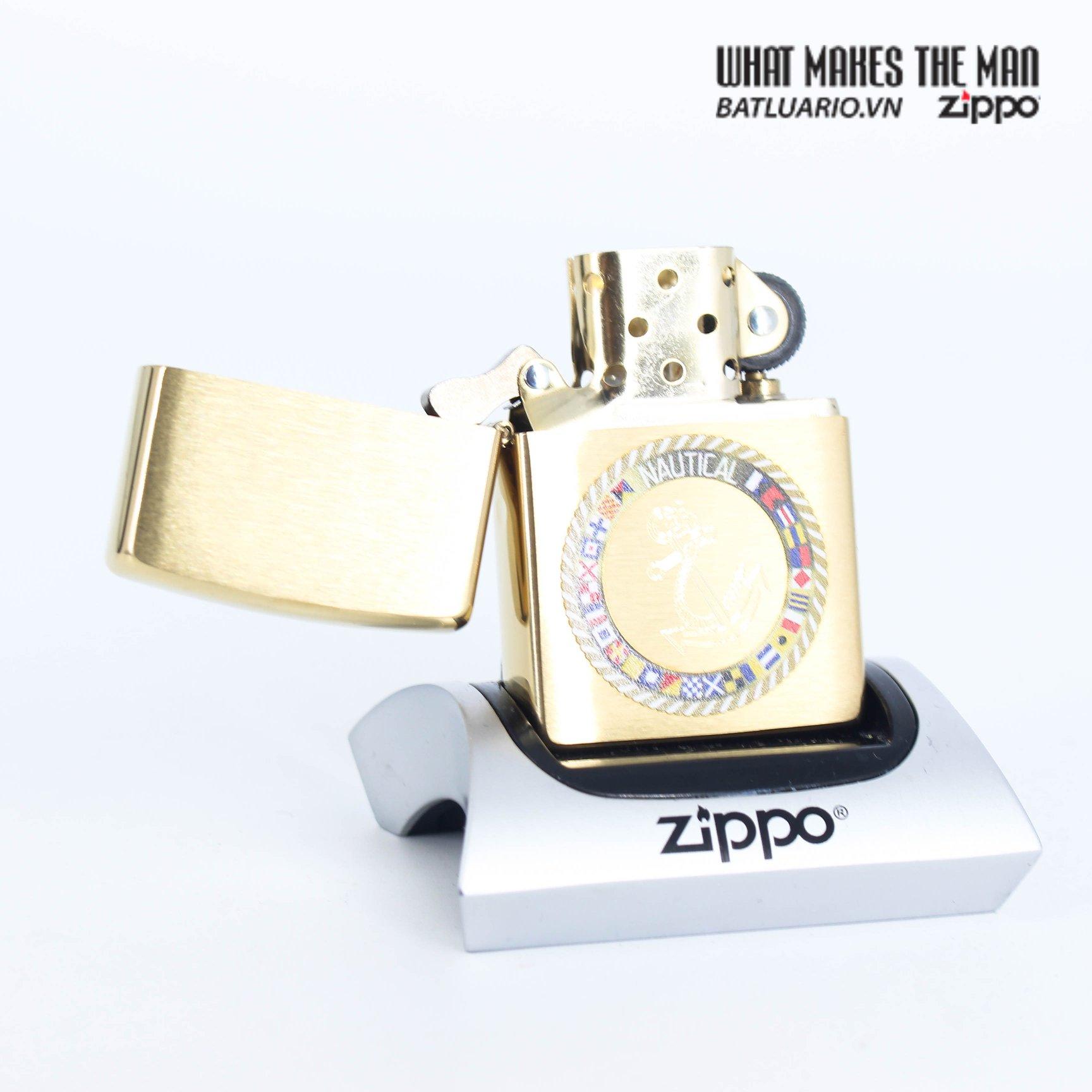 Zippo 49128 - Zippo Nautical Flags Design Brushed Brass 2