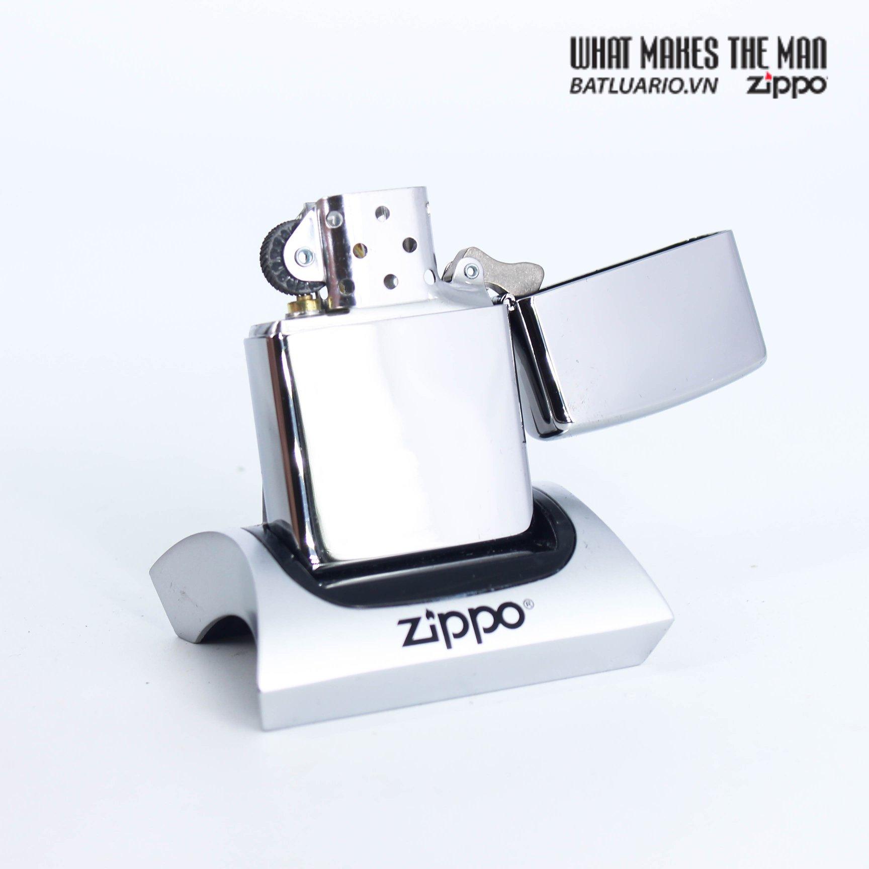 Zippo 49129 - Zippo Etched Freedom Design High Polish Chrome 3
