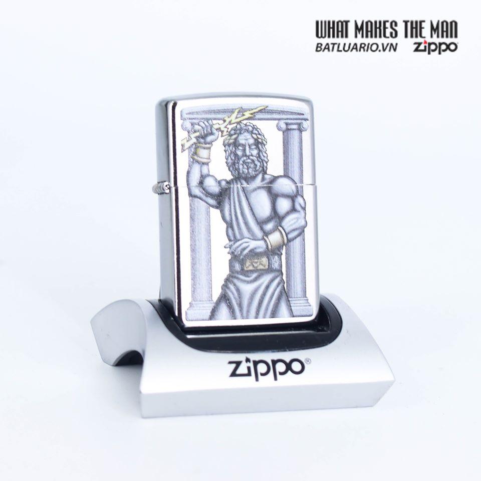 Zippo 49137 - Zippo Zeus Design Street Chrome 1