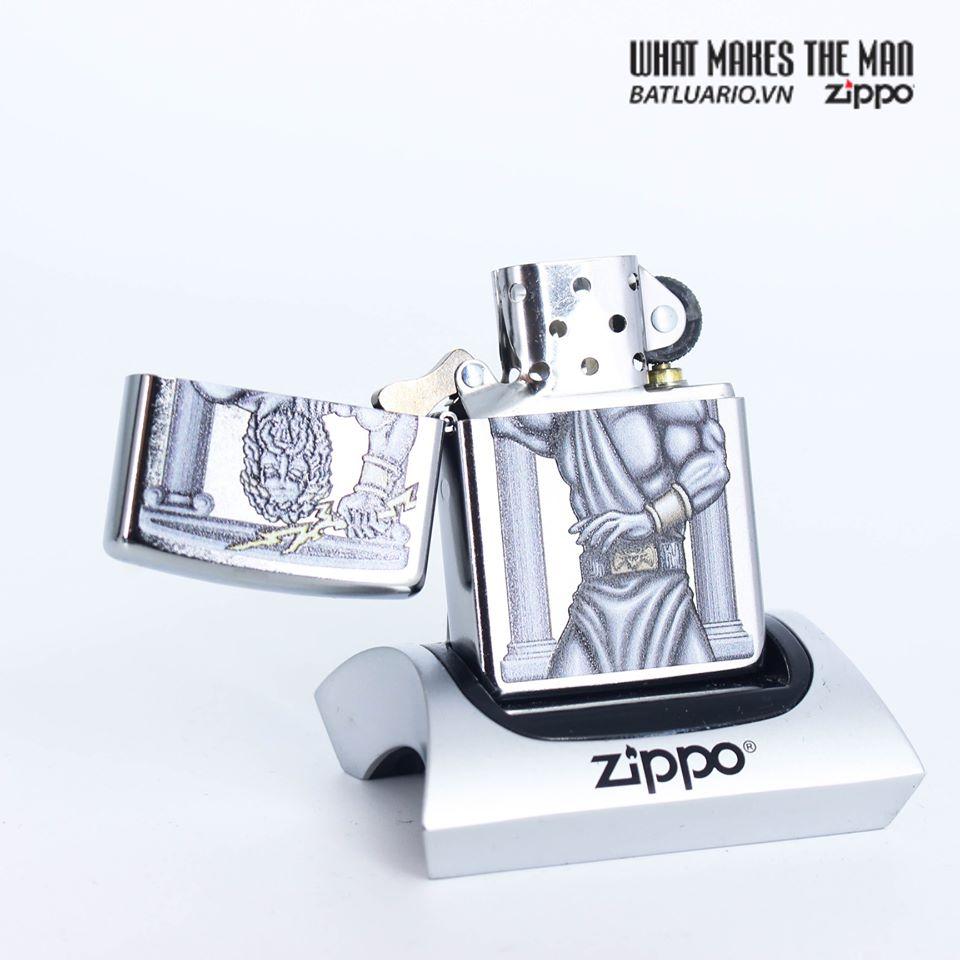 Zippo 49137 - Zippo Zeus Design Street Chrome 2