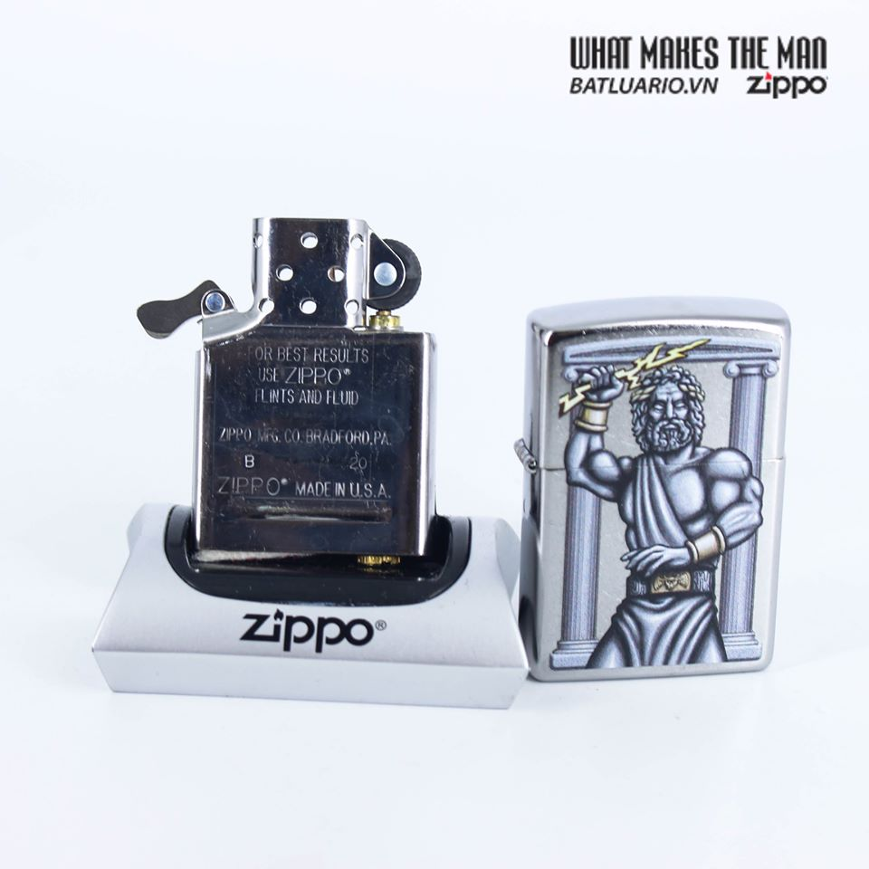 Zippo 49137 - Zippo Zeus Design Street Chrome 8