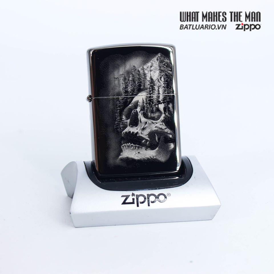 Zippo 49141 - Zippo Skull Mountain Black Ice 1