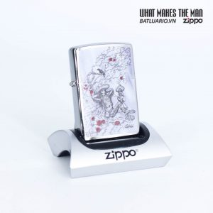 Zippo 49144 - Zippo Rietveld Skeleton design Brushed Chrome 1