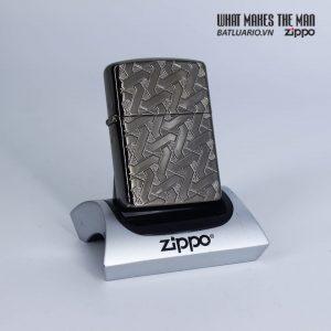 Zippo 49173 - Zippo Armor® Geometric Weave Design Black Ice 1