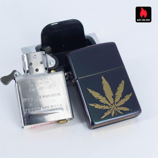 Zippo 49185 - Zippo Iridescent Marijuana Leaf 13
